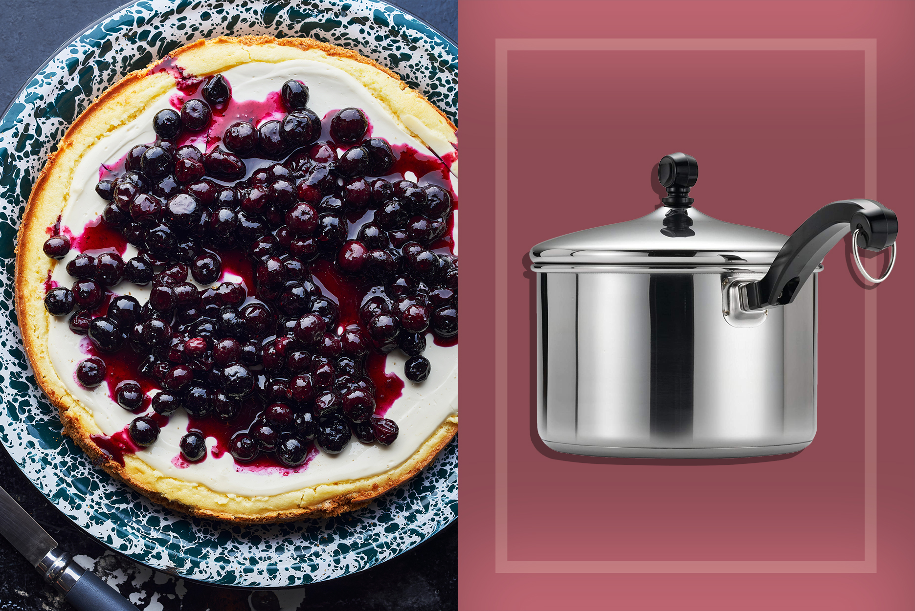 Summer Fruit Cooking Tools | Blueberry Straining Saucepan