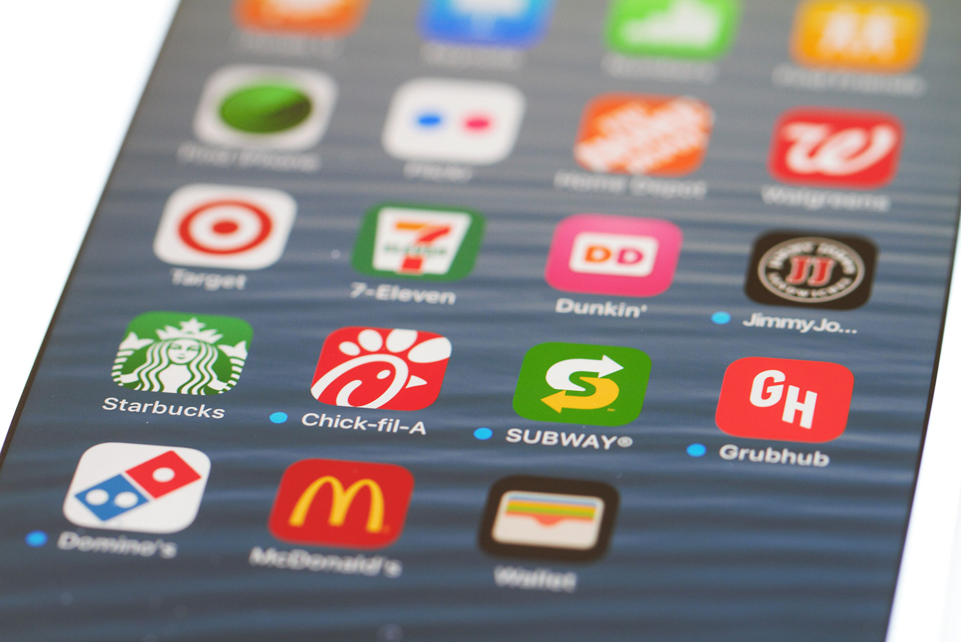 Popular restaurant mobile apps on iPhone