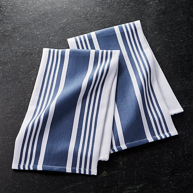 crate and barrel stripe dish towels