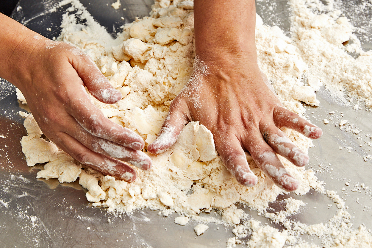 Lisa Donovan's Hands Kneading Dough