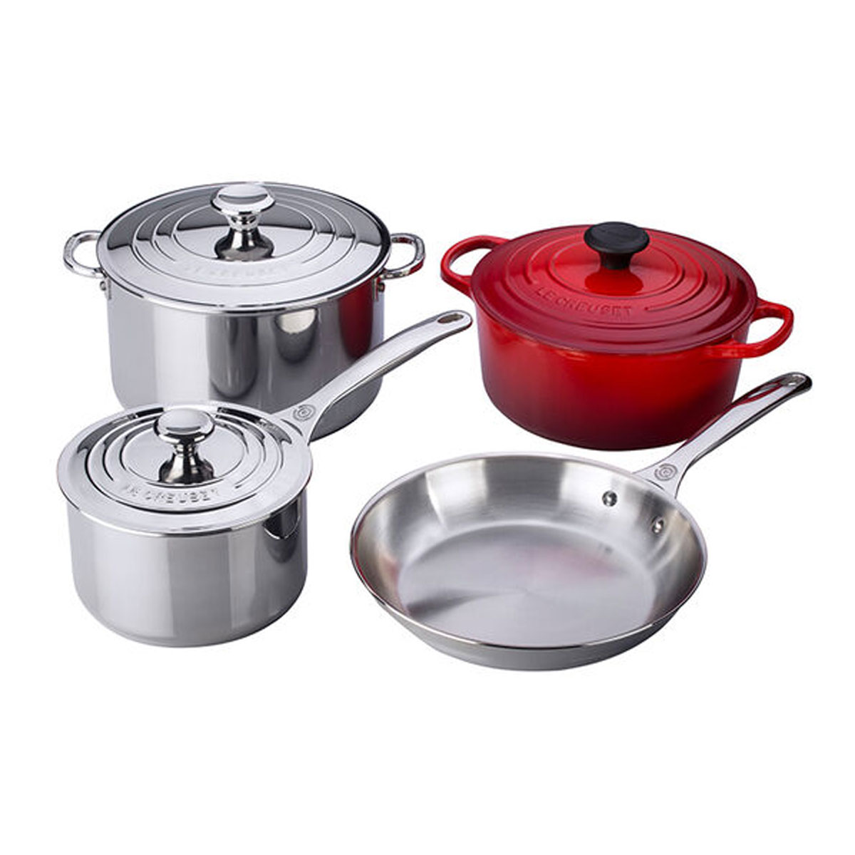 Le Creuset stainless steel set