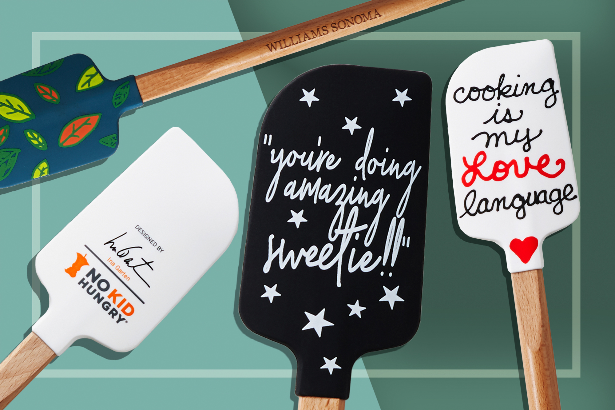 "Williams Sonoma Spatulas for No Kid Hungry, including Ina Garten Signed Spatula and Kris Jenner ""You're Doing Amazing Sweetie!"""