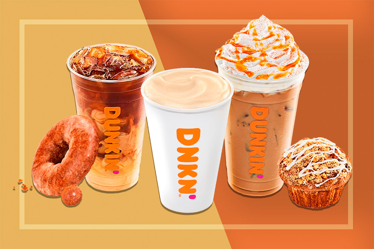 Dunkin Fall Drinks and Snacks