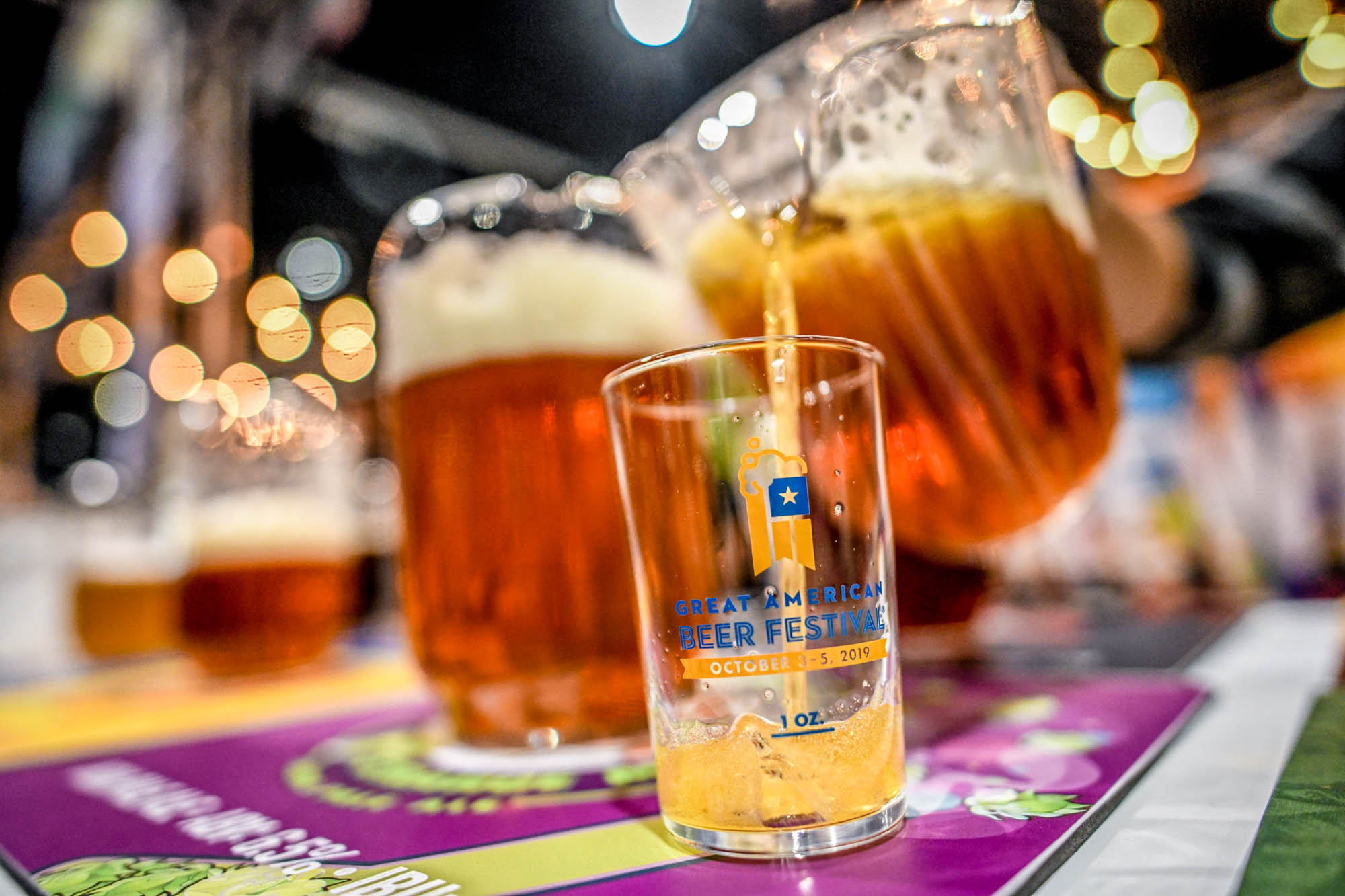 Pouring Beer at the 2019 Great America Beer Festival