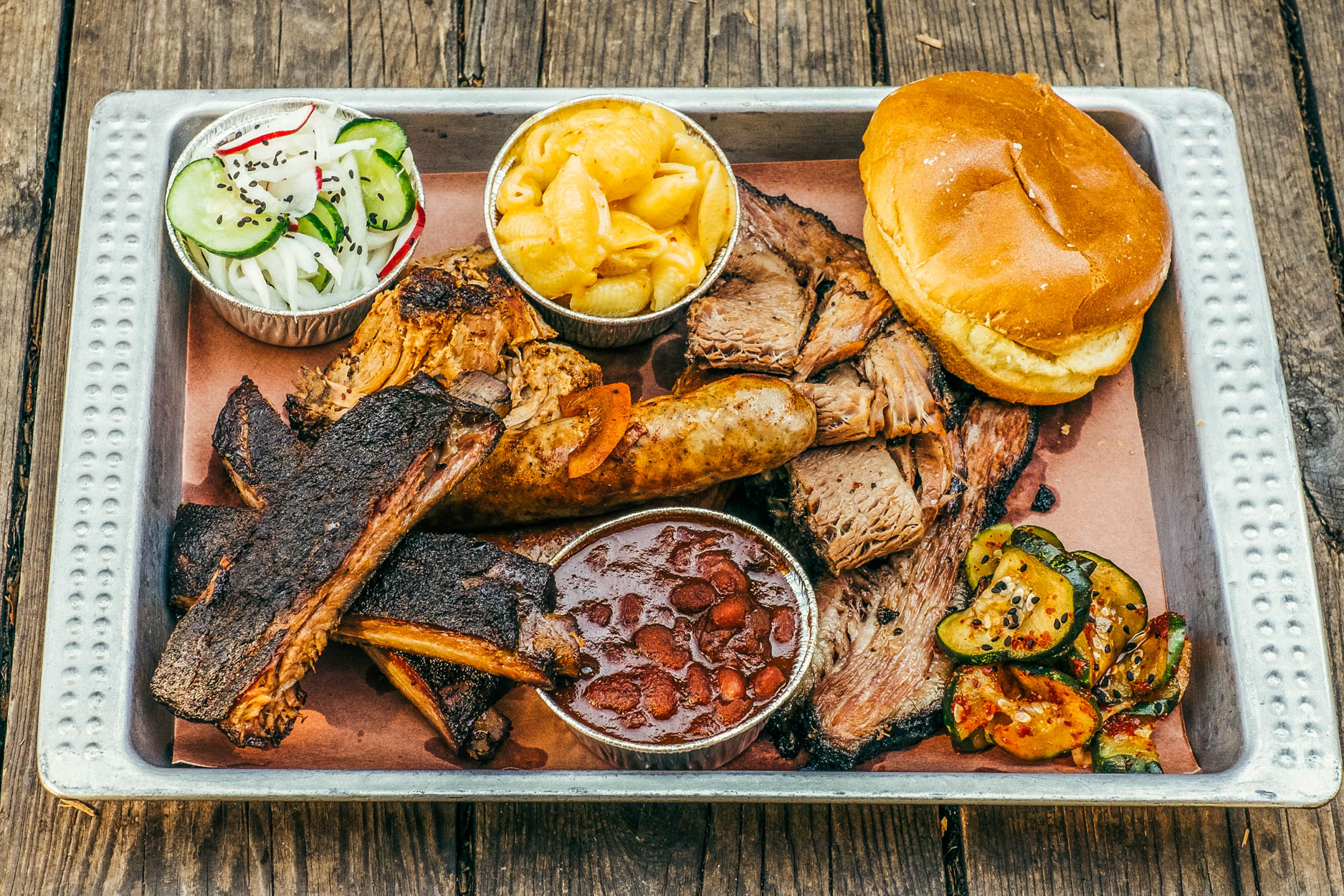 An Heirloom Market barbecue platter