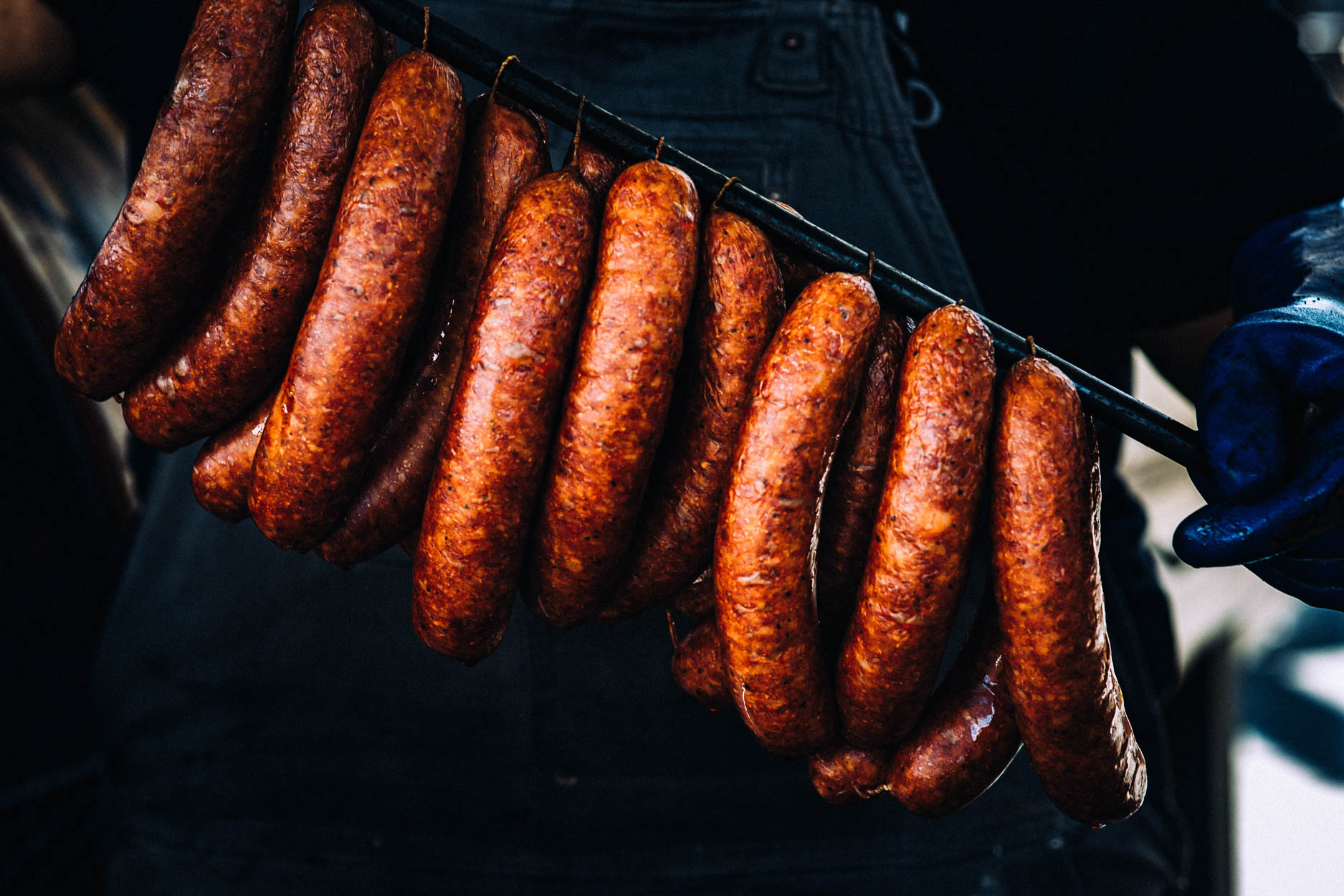 Sausage links at Heritage Barbecue