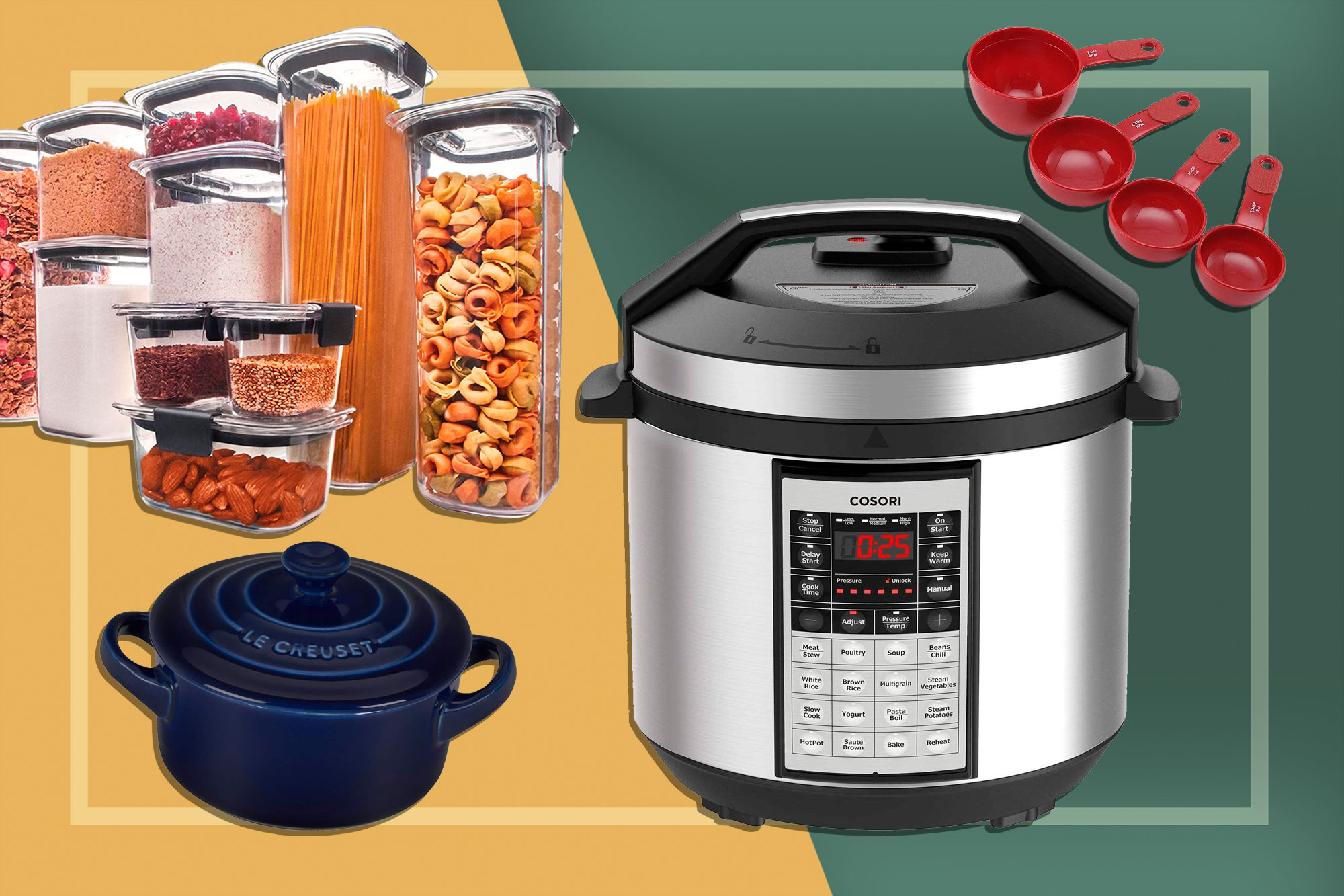 Amazon Home Sale Items: Le Creuset, Pressure Cooker, Measuring Spoons, Storage Containers