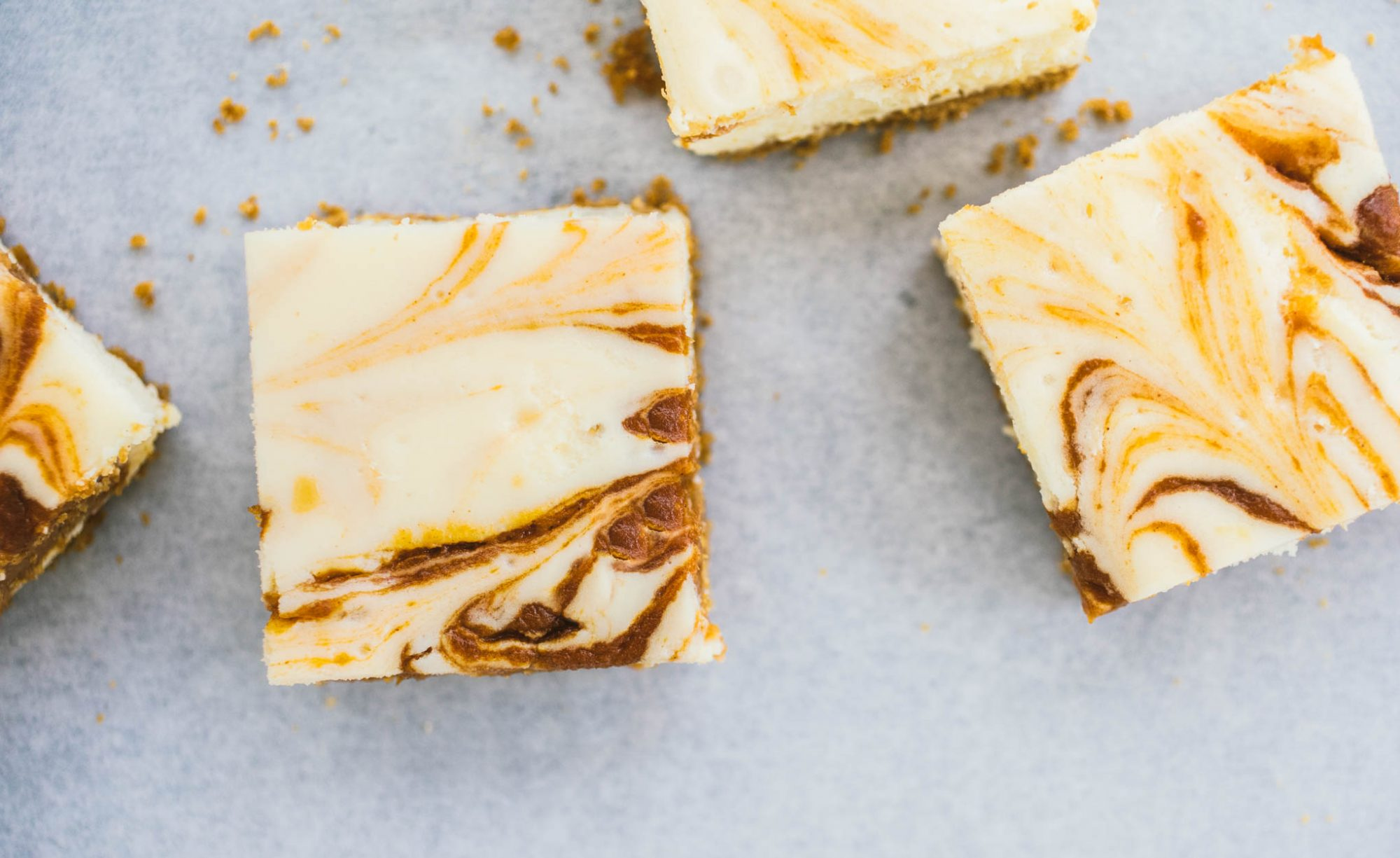 Pumpkin Swirl Cheesecake Bars
