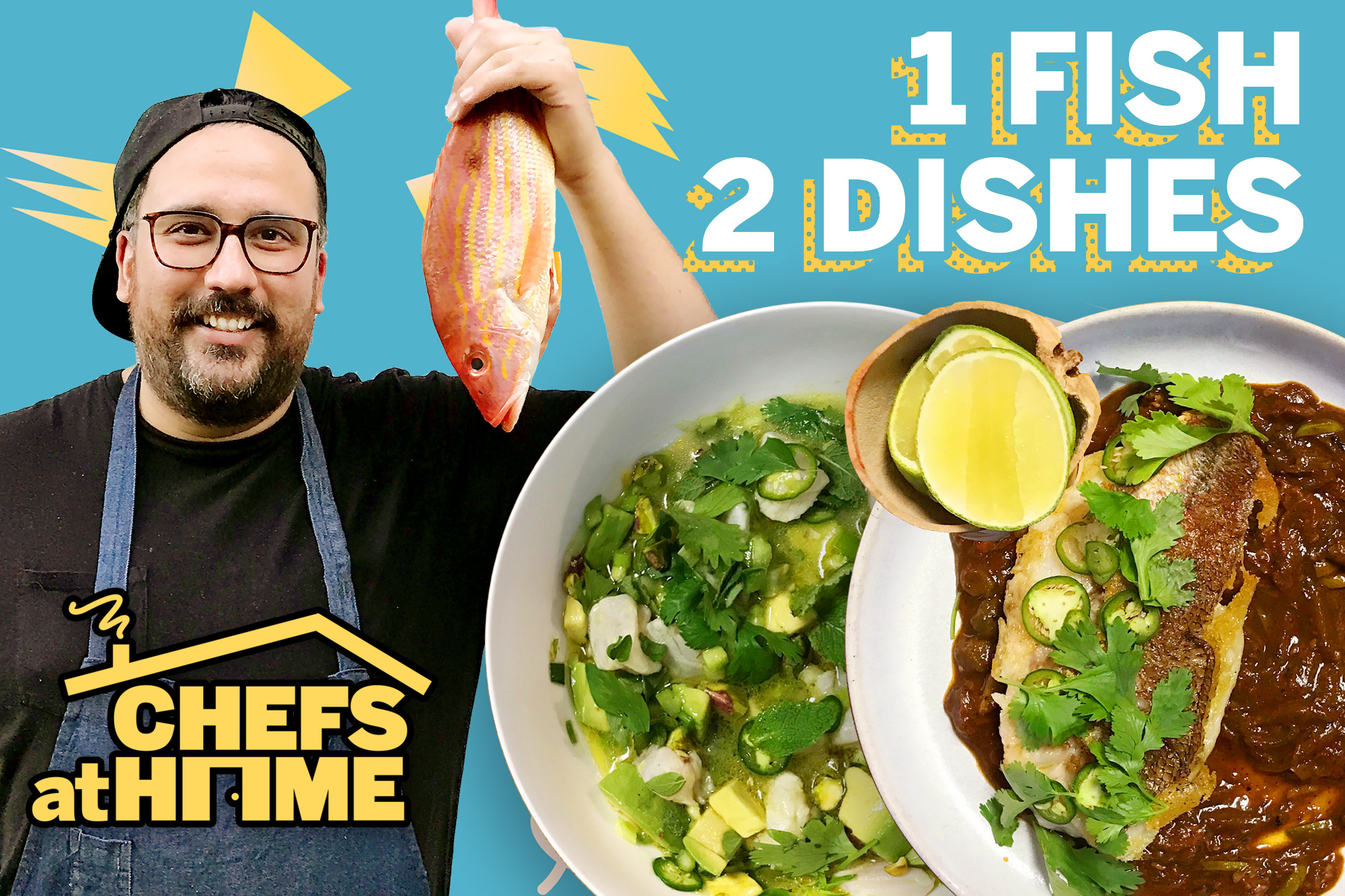 Chefs at Home featuring Chef Fermin making two dishes from 1 fish