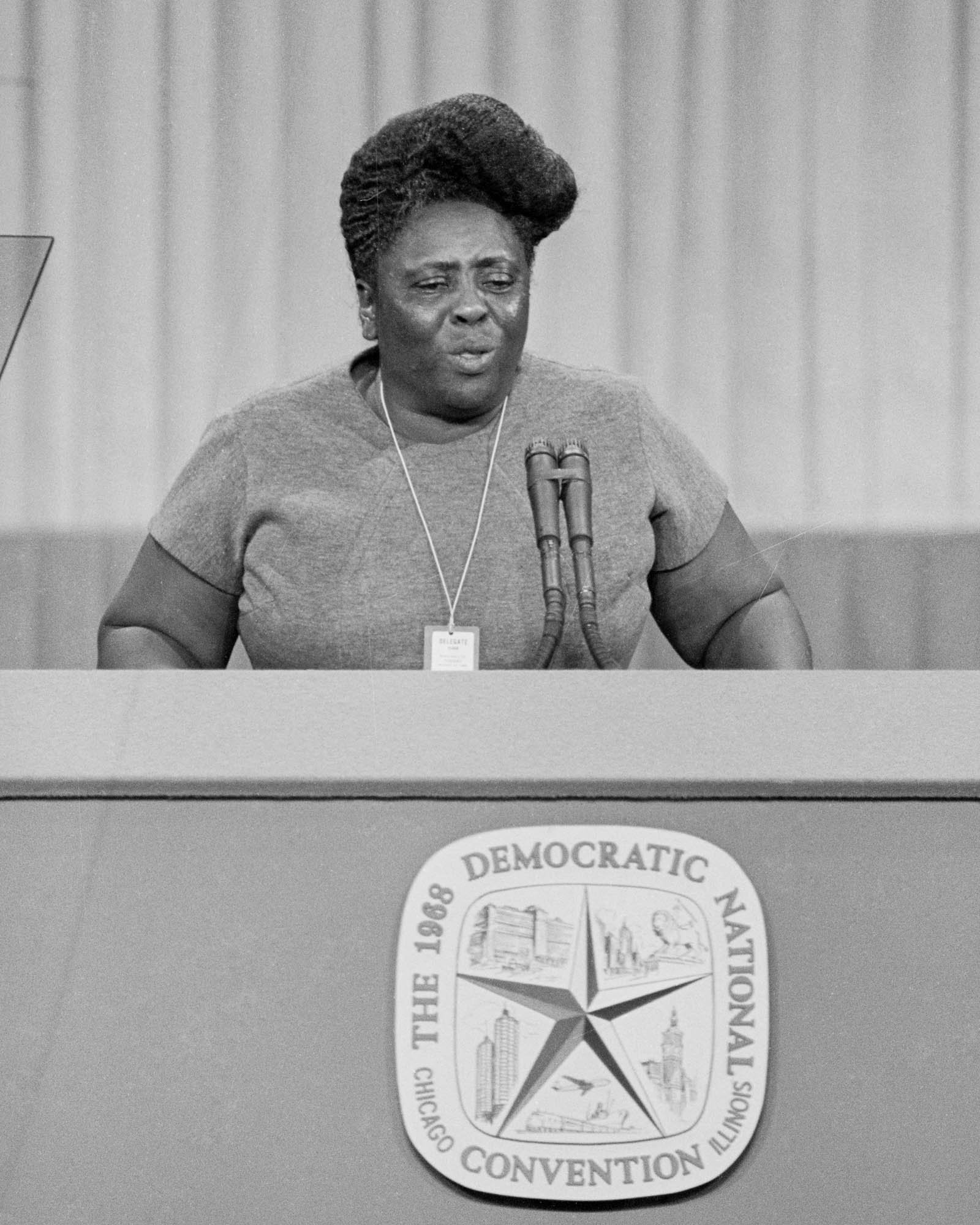 Fannie Lou Hamer Speaking from Podium