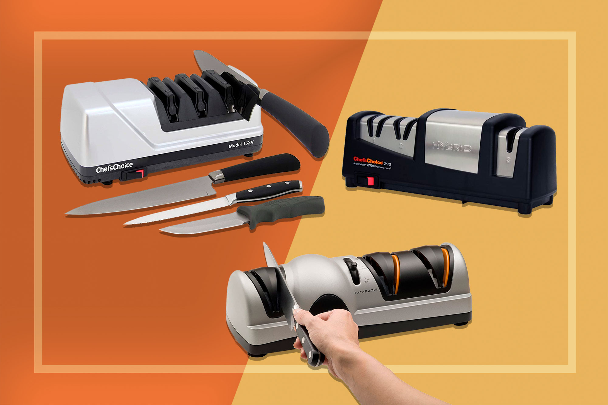 Electric Knife Sharpeners from Chef'sChoice and Presto