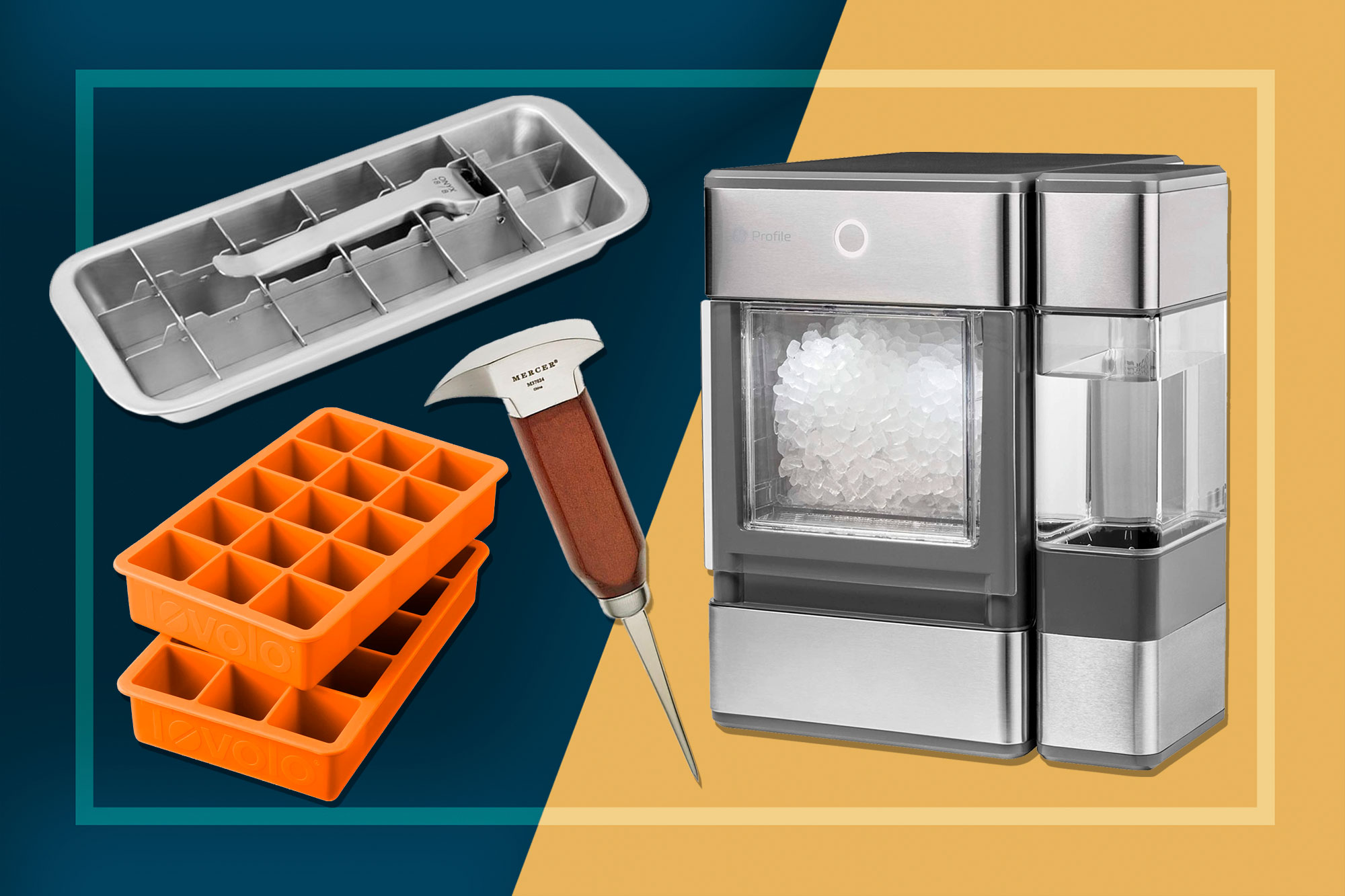 Ice Trays, Ice Maker, and an Ice Pick