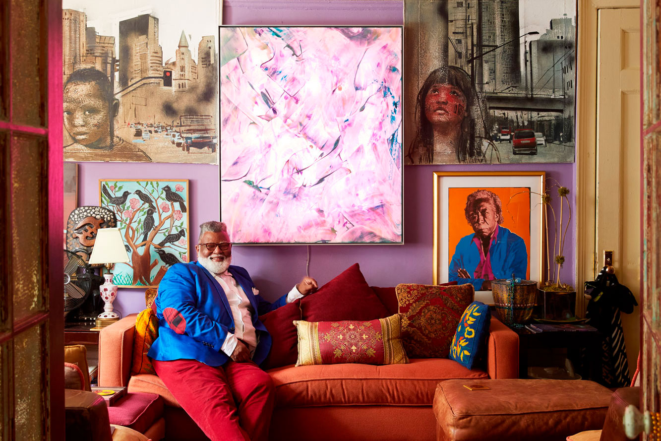 Alexander Smalls in his living room