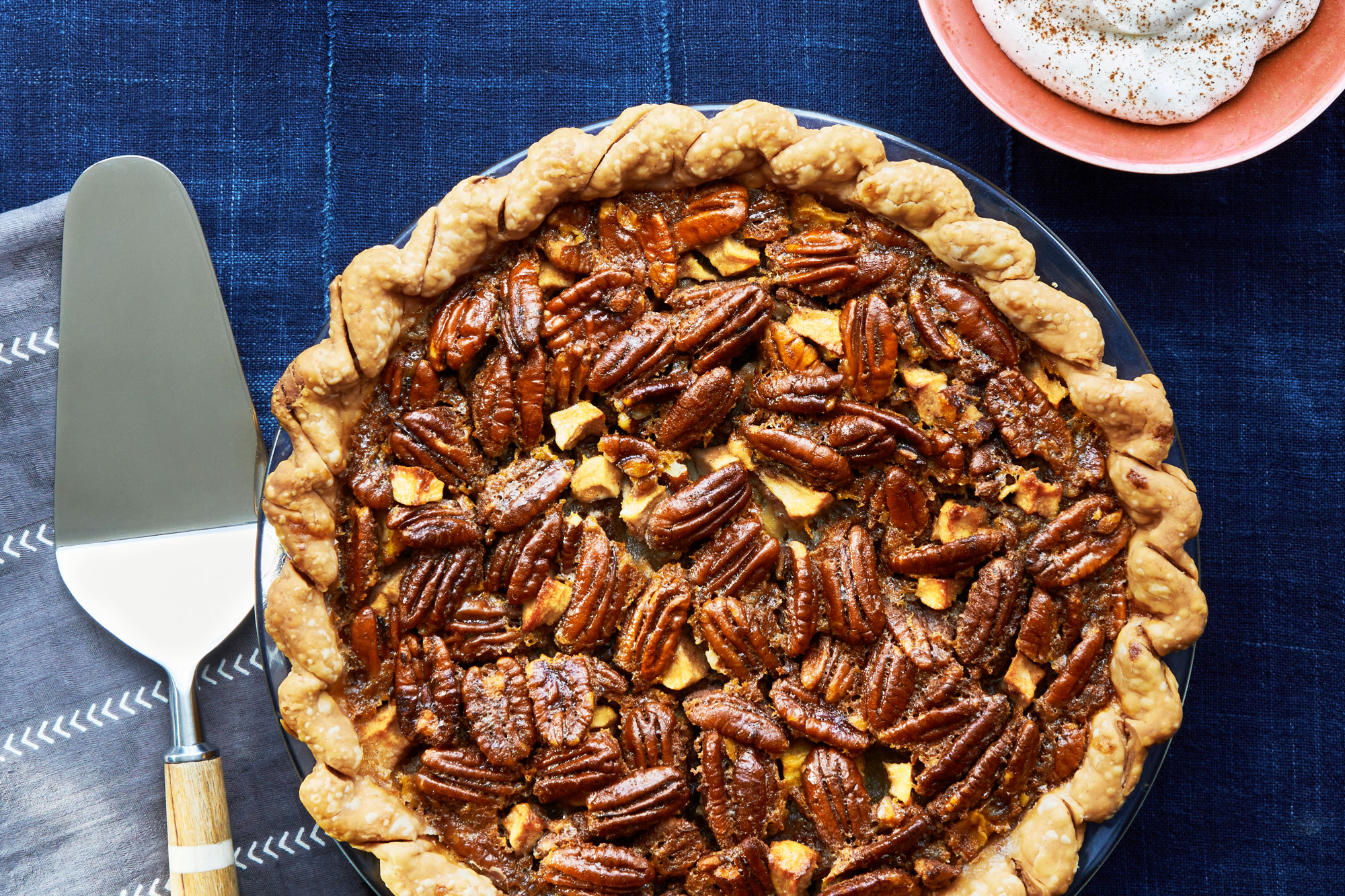 Bourbon Pecan Pie with Cinnamon Whipped Cream