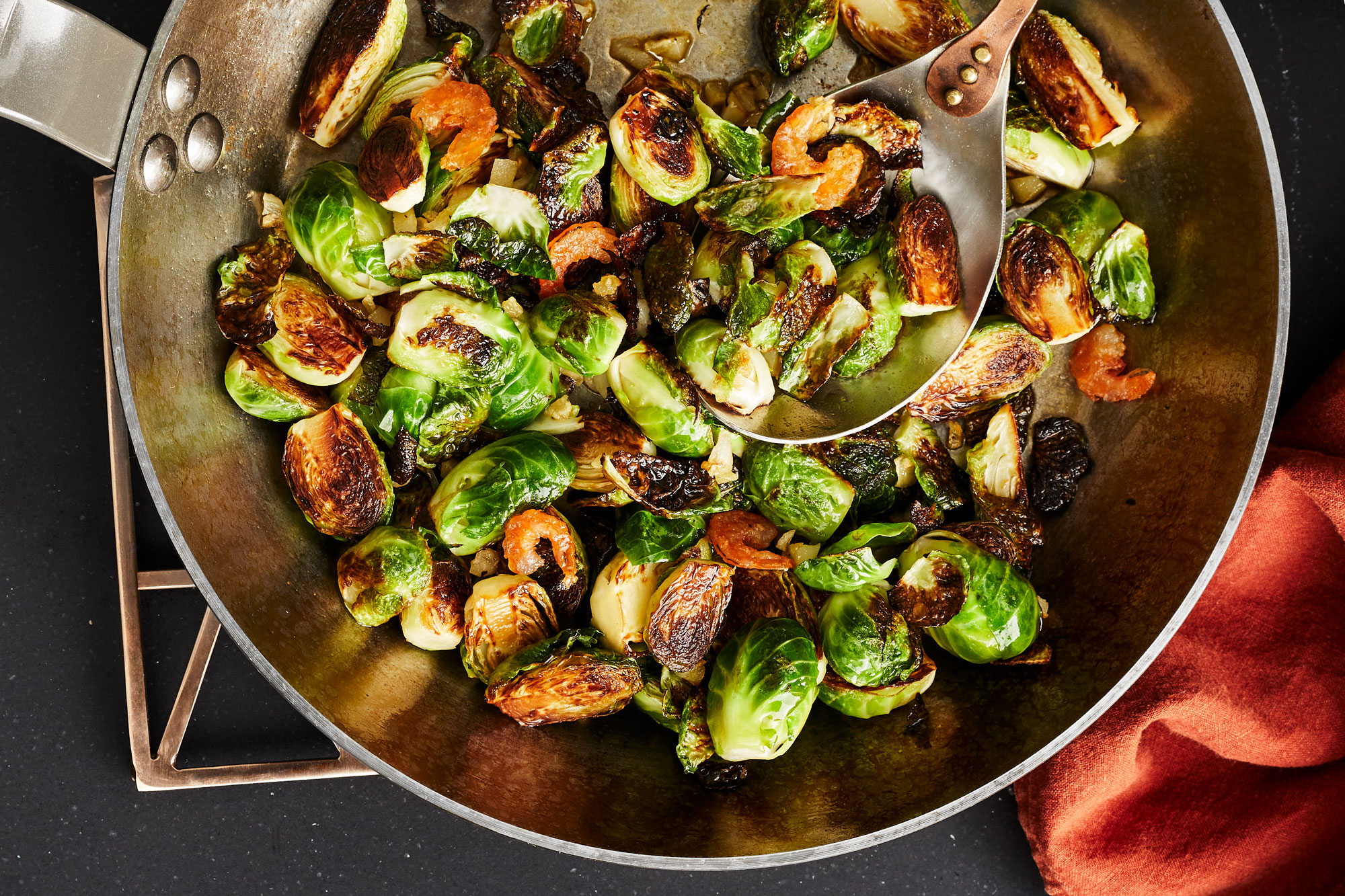 Brussels Sprouts with Shrimp Sauce