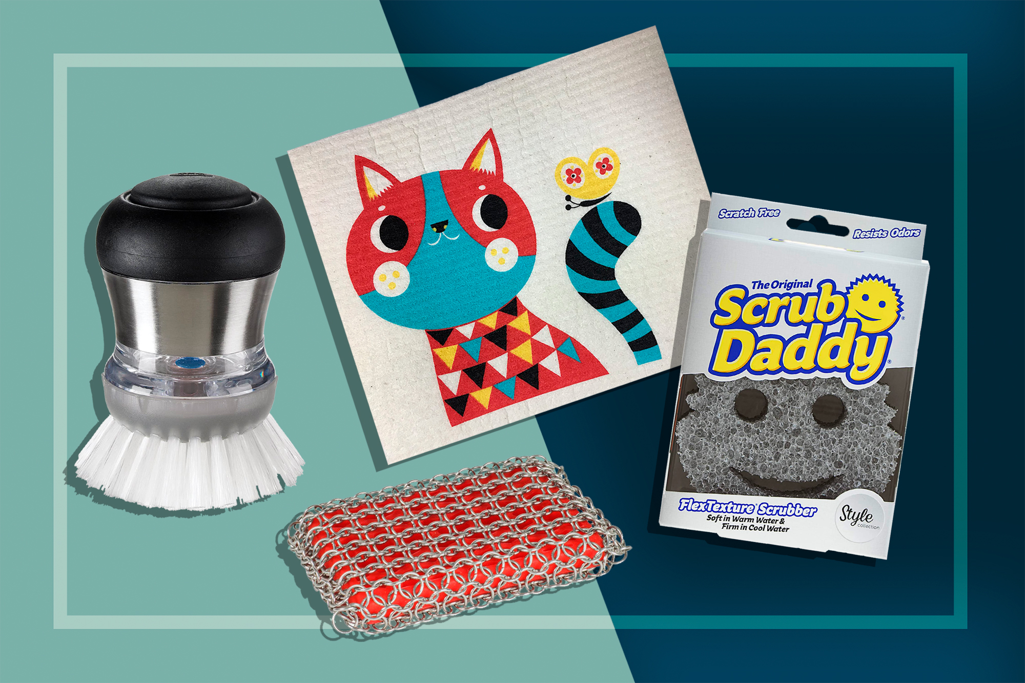 Different types of scrubbers and brushes