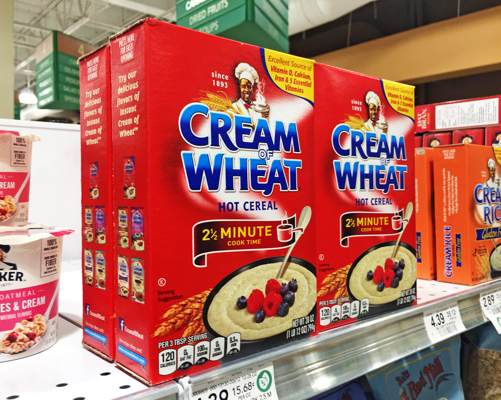 Cream of wheat boxes