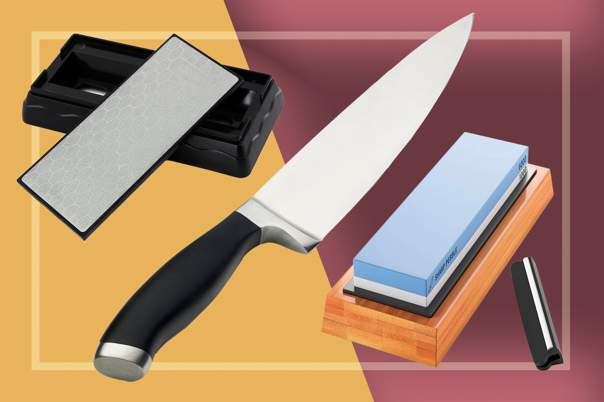 Sharpening Stones and a chef knife