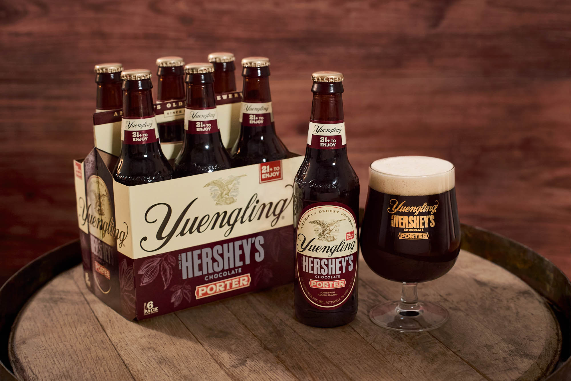 Yuengling Hershey's Chocolate Porter Bottle and Glass