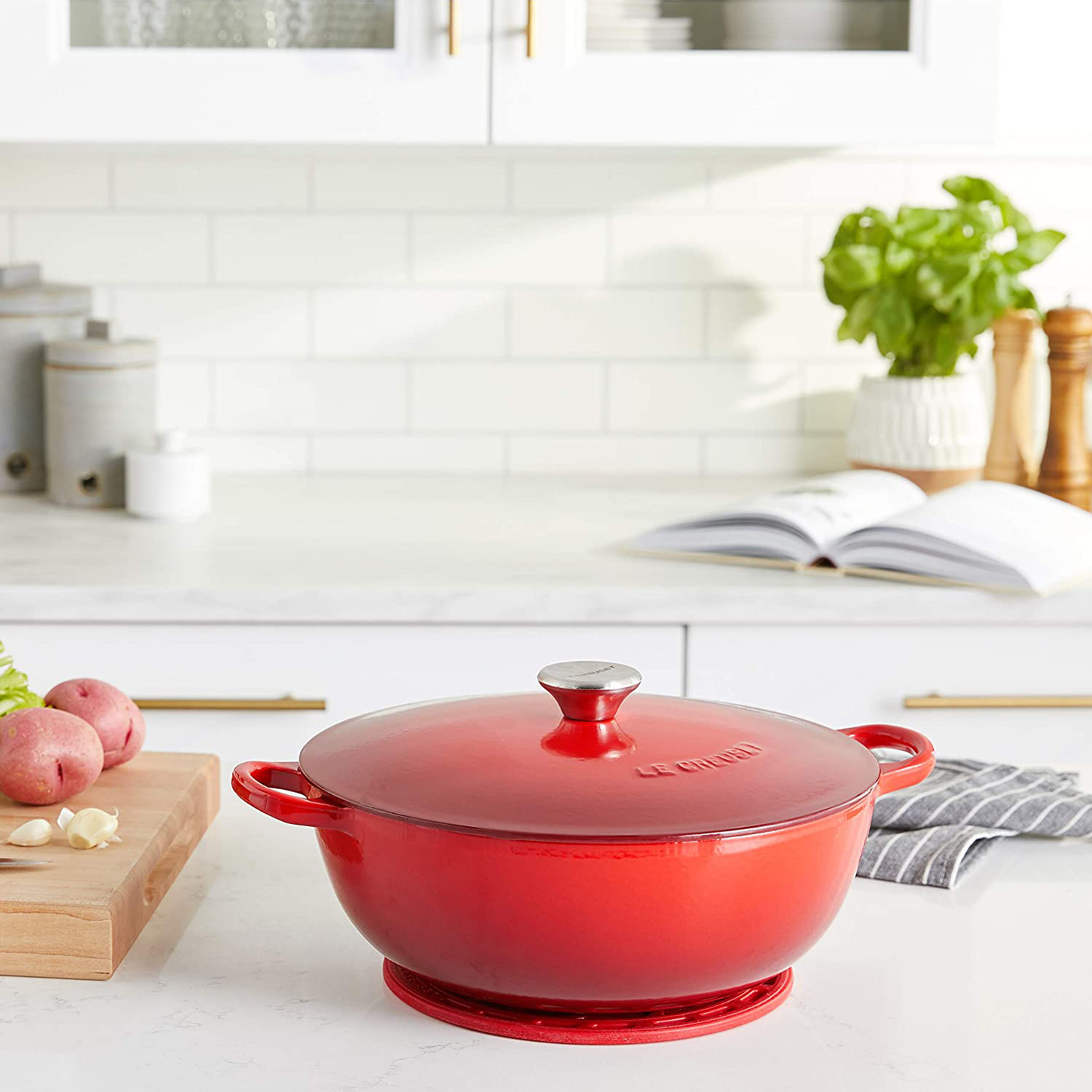 Le Creuset Enameled Cast Iron Curved Round Chef's Oven