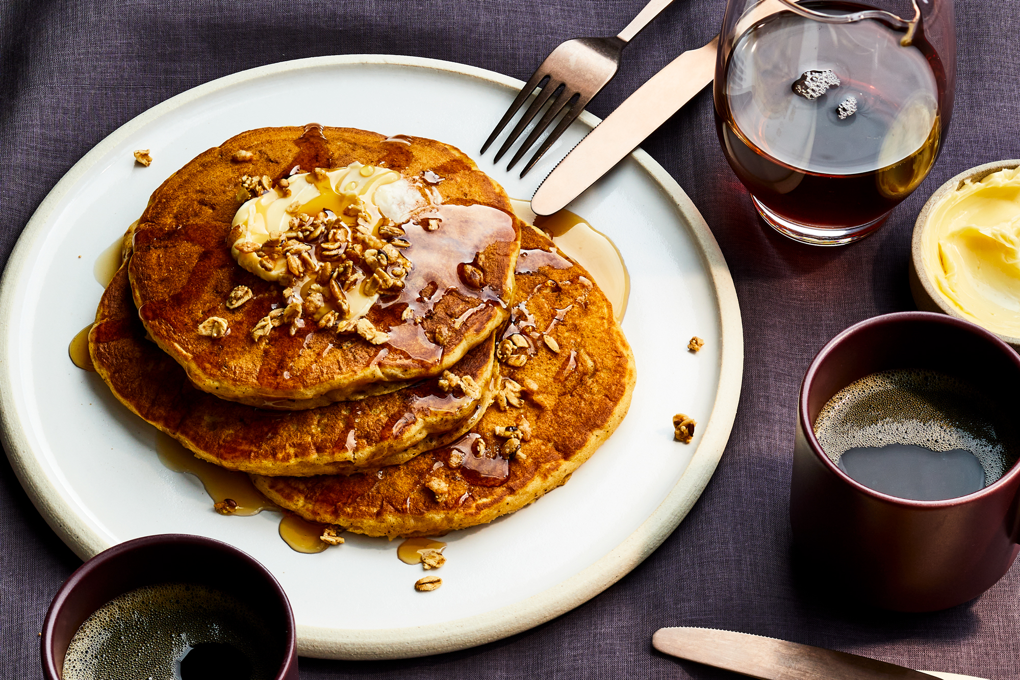 Candied Sweet Potato Pancakes