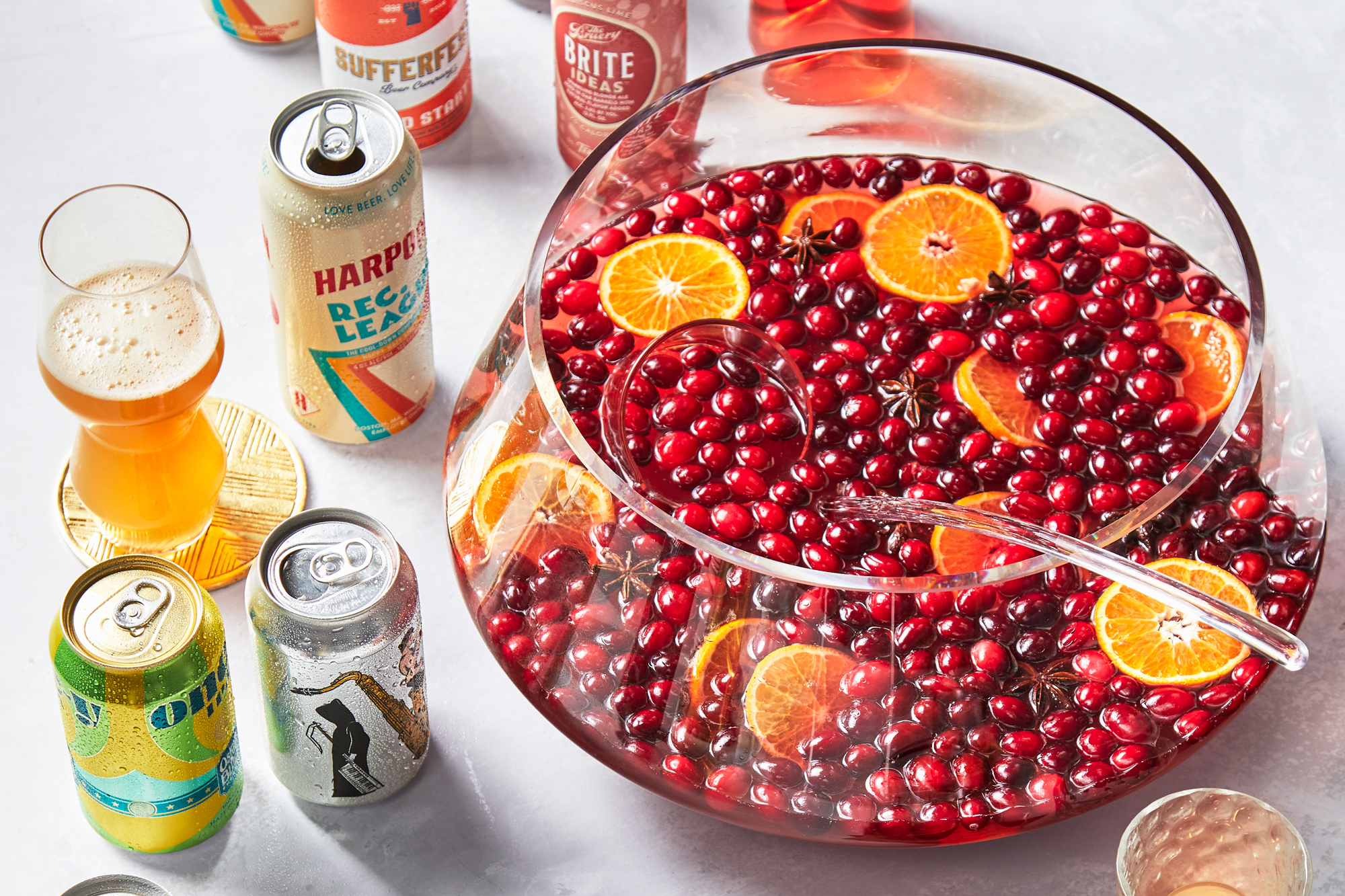 Sparkling Cranberry Ginger Punch with Toasted Spices