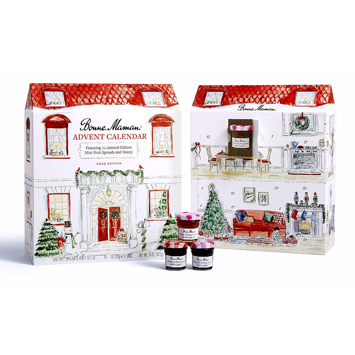 bonne maman advent calendar fruit spread honey