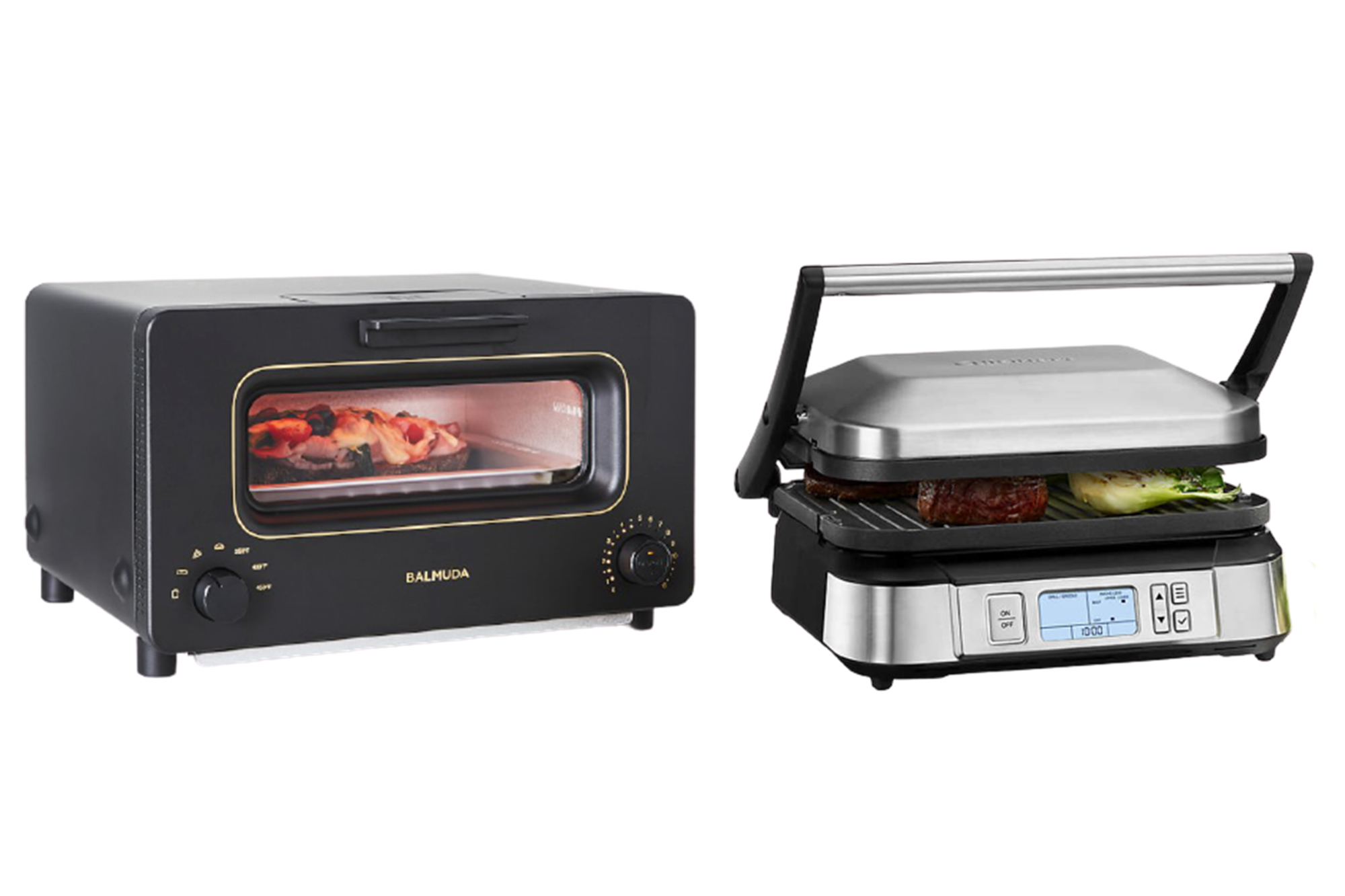 balmuda toaster and cuisinart grill