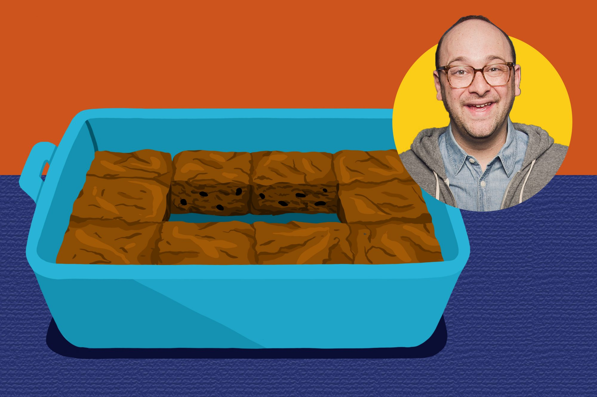 Josh Gondelman and brownies