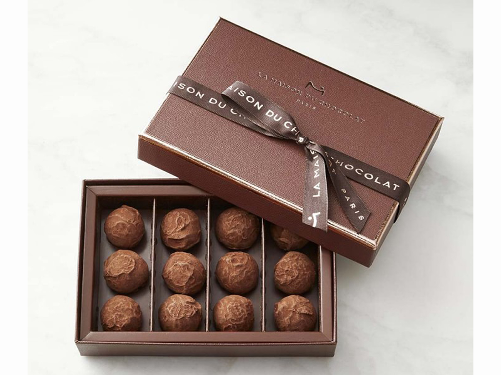 For rich chocolate, look no further than La Maison du Chocolat. These dark chocolate truffles are the perfect pop of flavor and smooth texture to savor every last drop. The European blend is made by master confectioners in France, and uses some of the best ingredients for the truffle mousse and the dusting of premium cocoa powder. $50 at williams-sonoma.com
