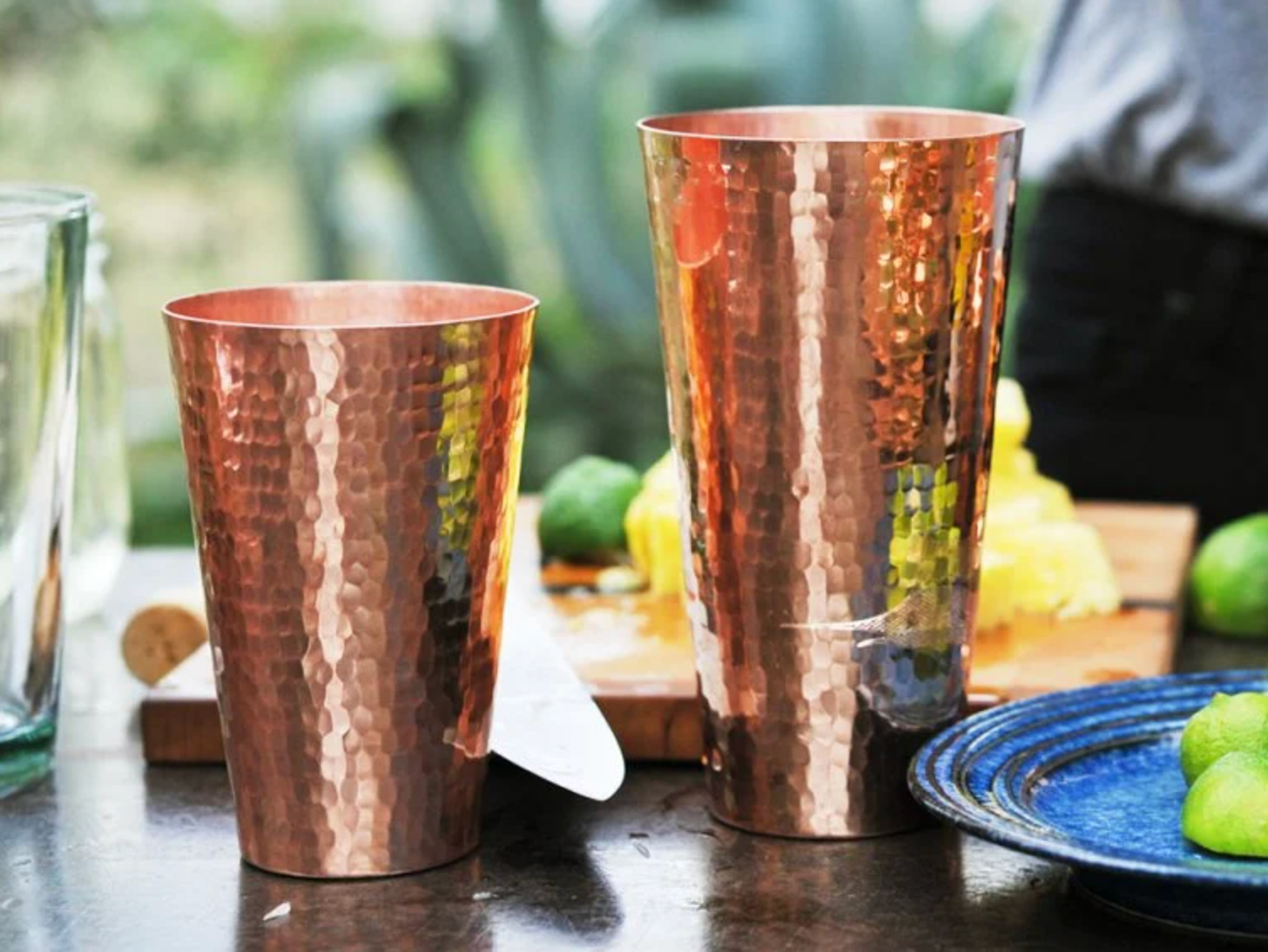 This gorgeous Boston shaker set includes one 30-ounce cup and one 18-ounce cup, made of 100 percent recycled copper. Hand-wash them right after you're done making drinks and be sure to dry well. $90 at thegrommet.com or $94 at food52.com