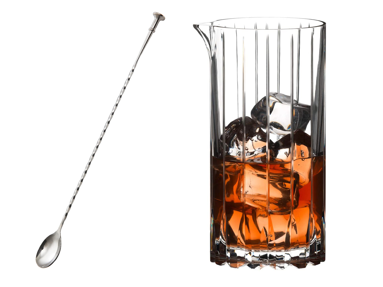 bar spoon and mixing glass