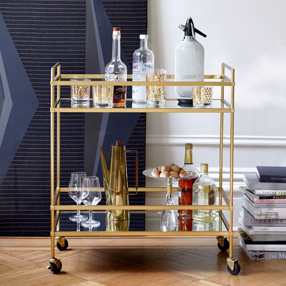For a big gift or major bar upgrade, a gorgeous bar cart is a great way to display your liquors and tools. West Elm's Terrace Bar Cart has that old-school aesthetic, but if that's beyond your budget, the Kinley Cart on Wayfair has the same vibe for a quarter of the price tag.Kinley Bar Cart, $75 at wayfair.comTerrace Bar Cart, $400 at westelm.com