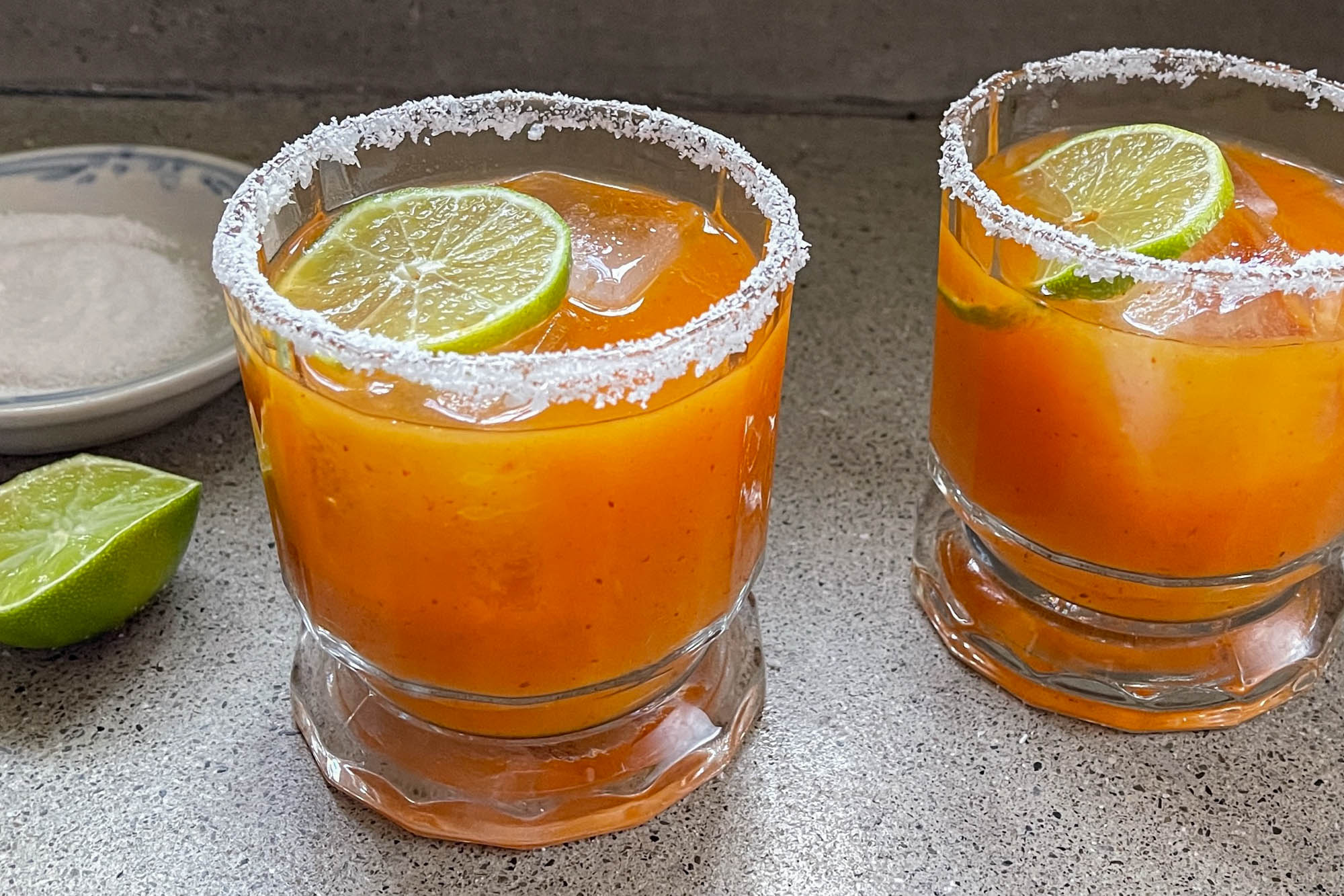 "Bloody Maria with Carrot-Papaya ""Sangrita"""