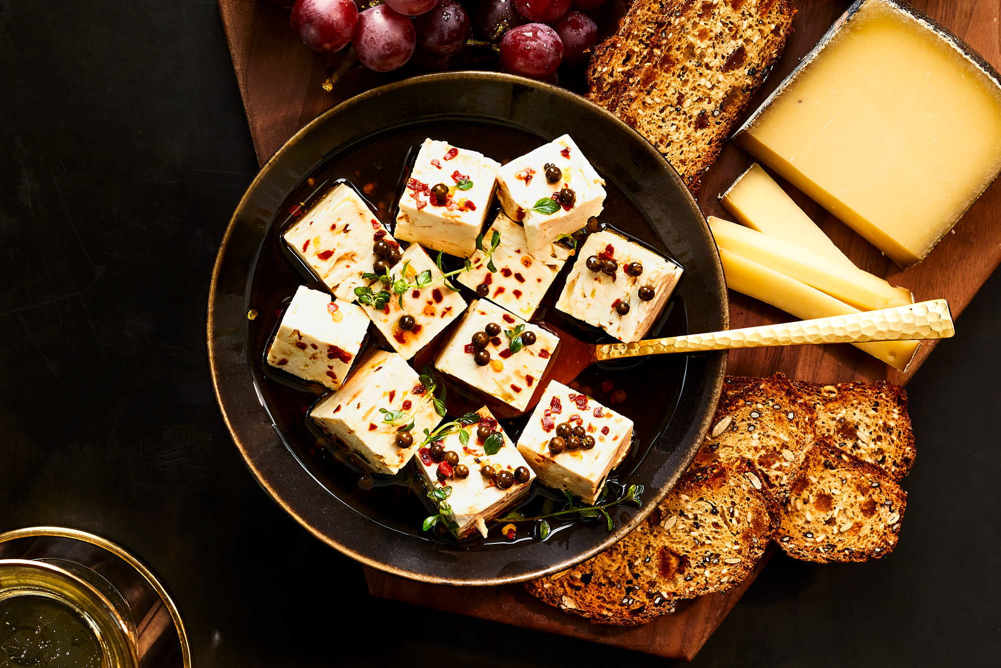 Green Peppercorn Marinated Feta