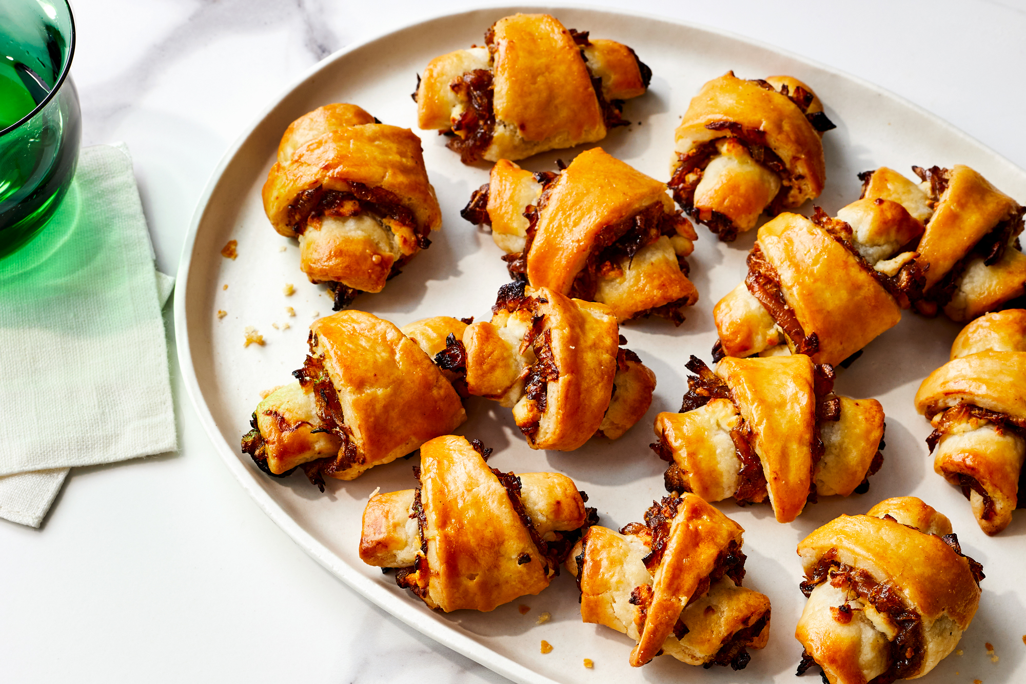 Onion Jam and Goat Cheese Rugelach