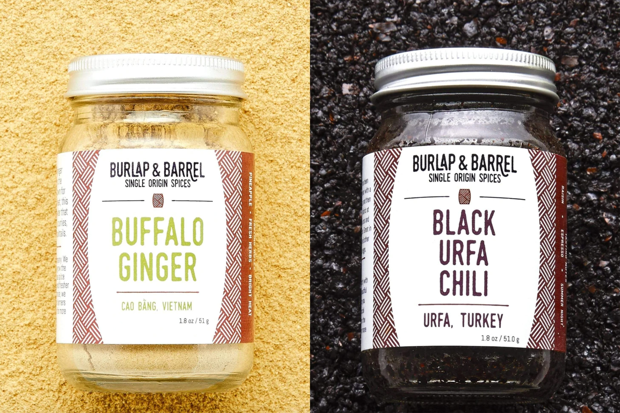 burlap and barrel spices