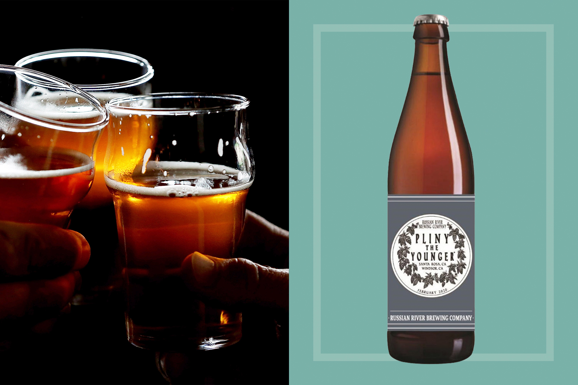 Russian River Brewing Pliny the Younger beer bottle