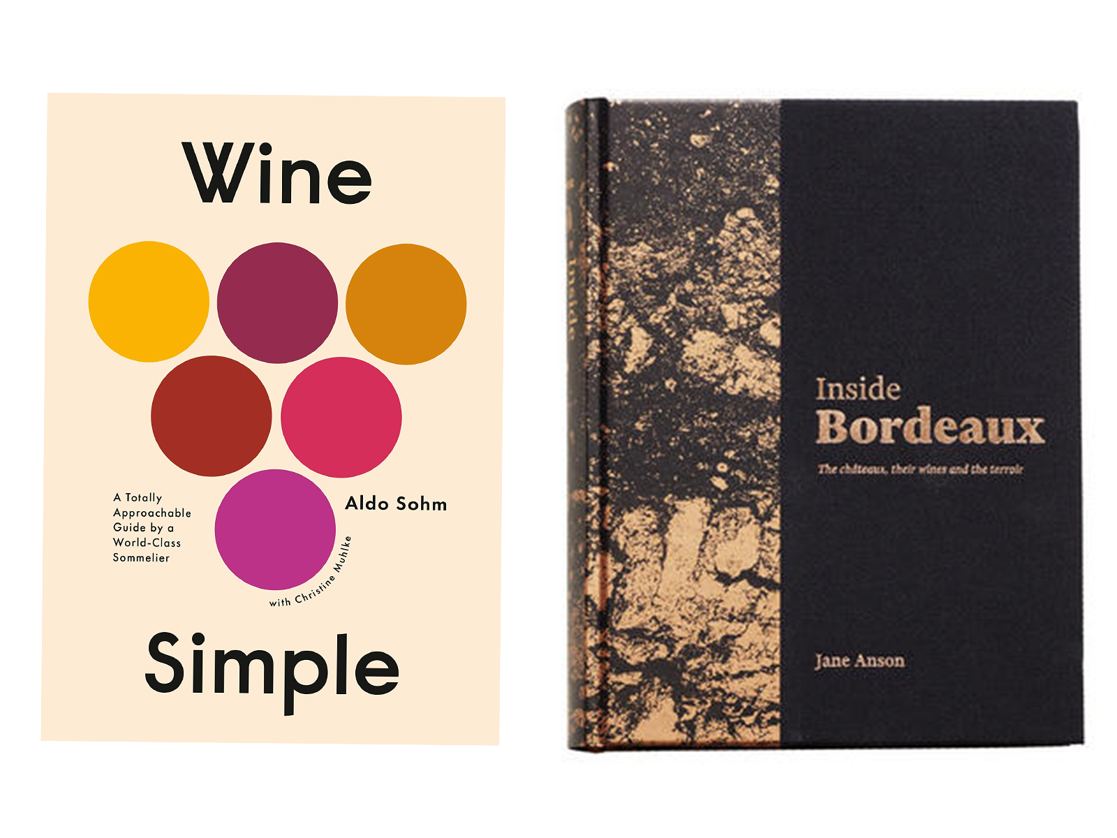 For the wine beginner, star sommelier Aldo Sohm of NYC's Le Bernardin restaurant recently published one of the best intro guides around, Wine Simple. It offers plenty of detail, but never dives so deep that you walk away baffled; plus the gorgeous design is as much about communicating that information as it is about looking good. $30 at amazon.comIf you have a longtime, passionate wine lover who needs a gift, on the other hand, they should be thrilled with a copy of Decanter magazine critic Jane Anson's Inside Bordeaux ($80). Anson's incredibly comprehensive and engagingly written book delves deeply into the terroir of Bordeaux, and profiles effectively every significant château; more than 800 of them. Spanning 700+ pages, with over fifty full-color maps, Inside Bordeaux sets a new benchmark for books on France's most famous wine region.