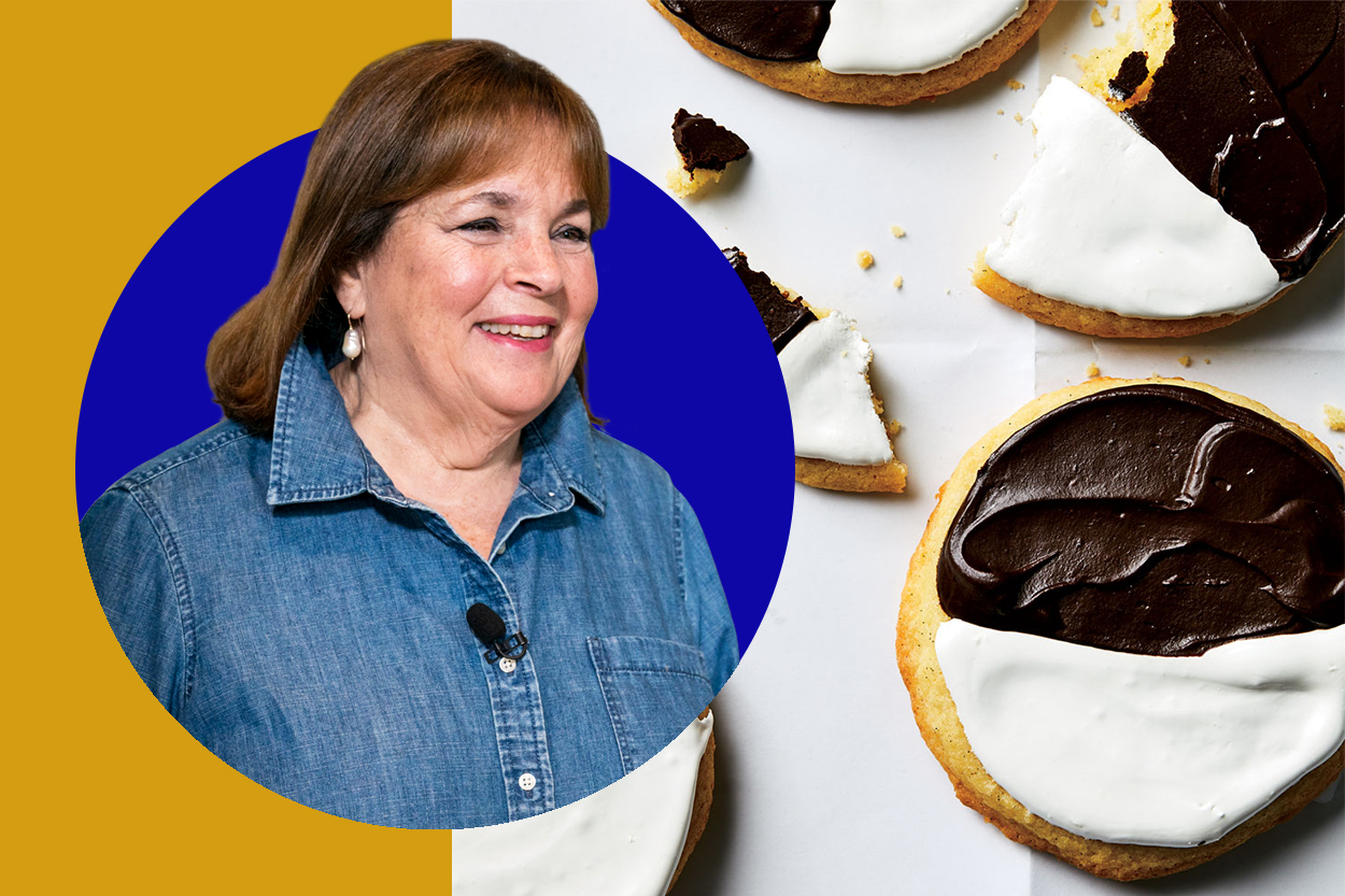 Ina Garten and black and white cookies