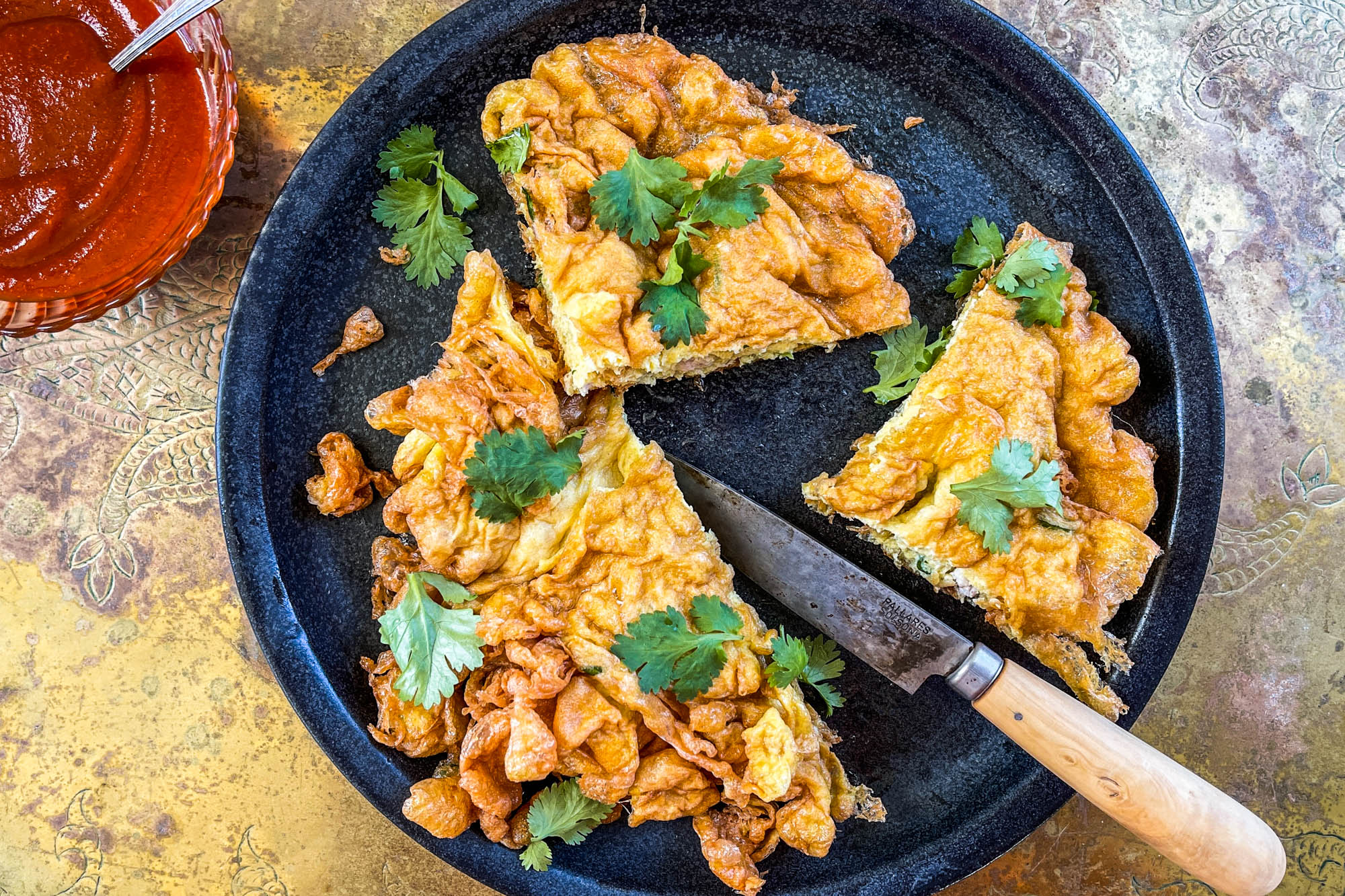 Kai Jeow Moo Sab (Thai Fried Omelet with Pork)