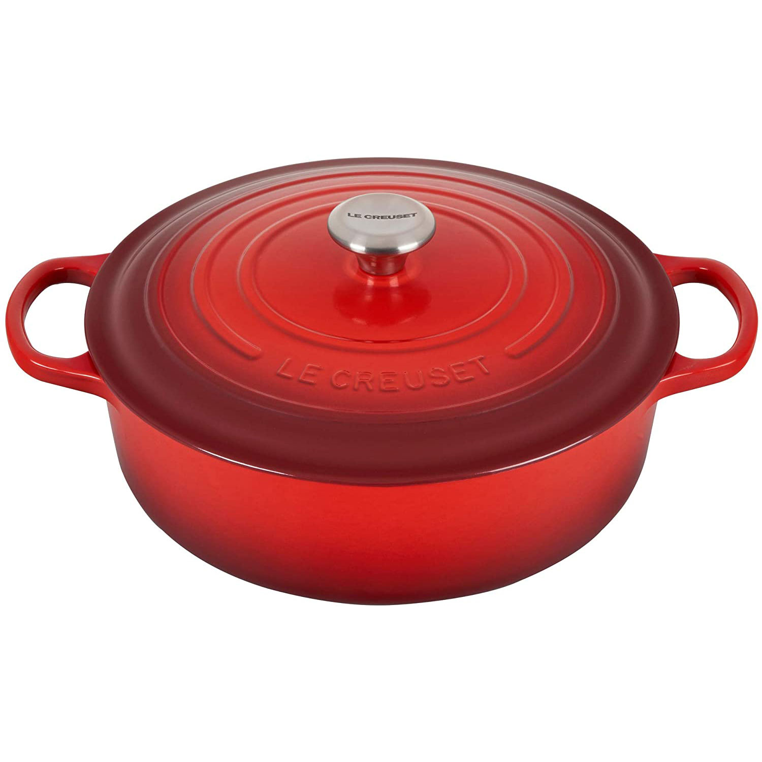 Le Creuset Enameled Cast Iron Signature Round Wide Dutch Oven