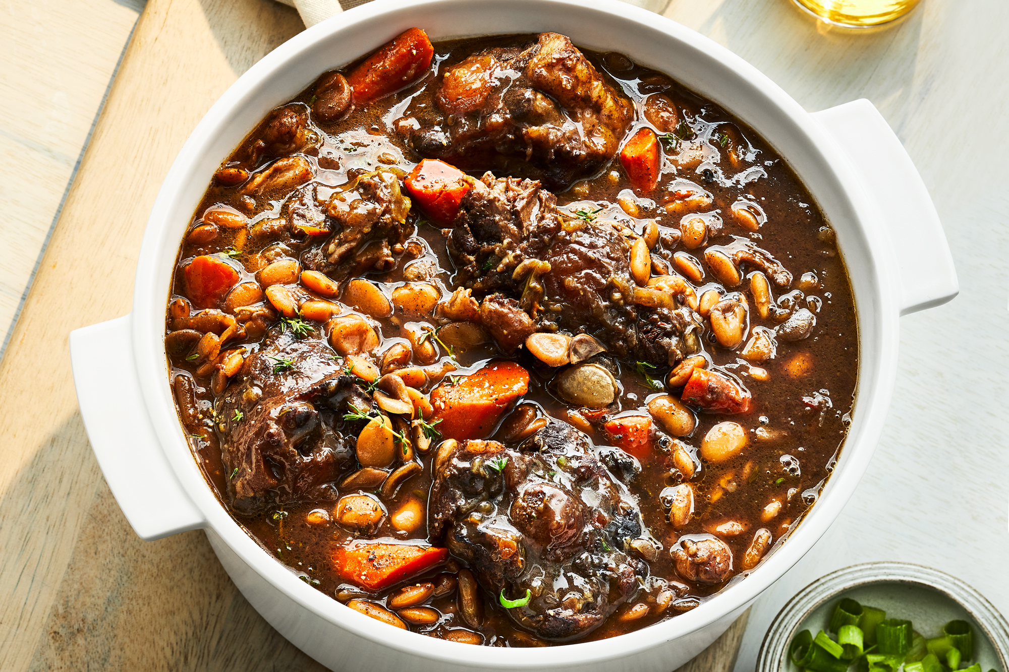 Braised Oxtails with Carrots and Chiles
