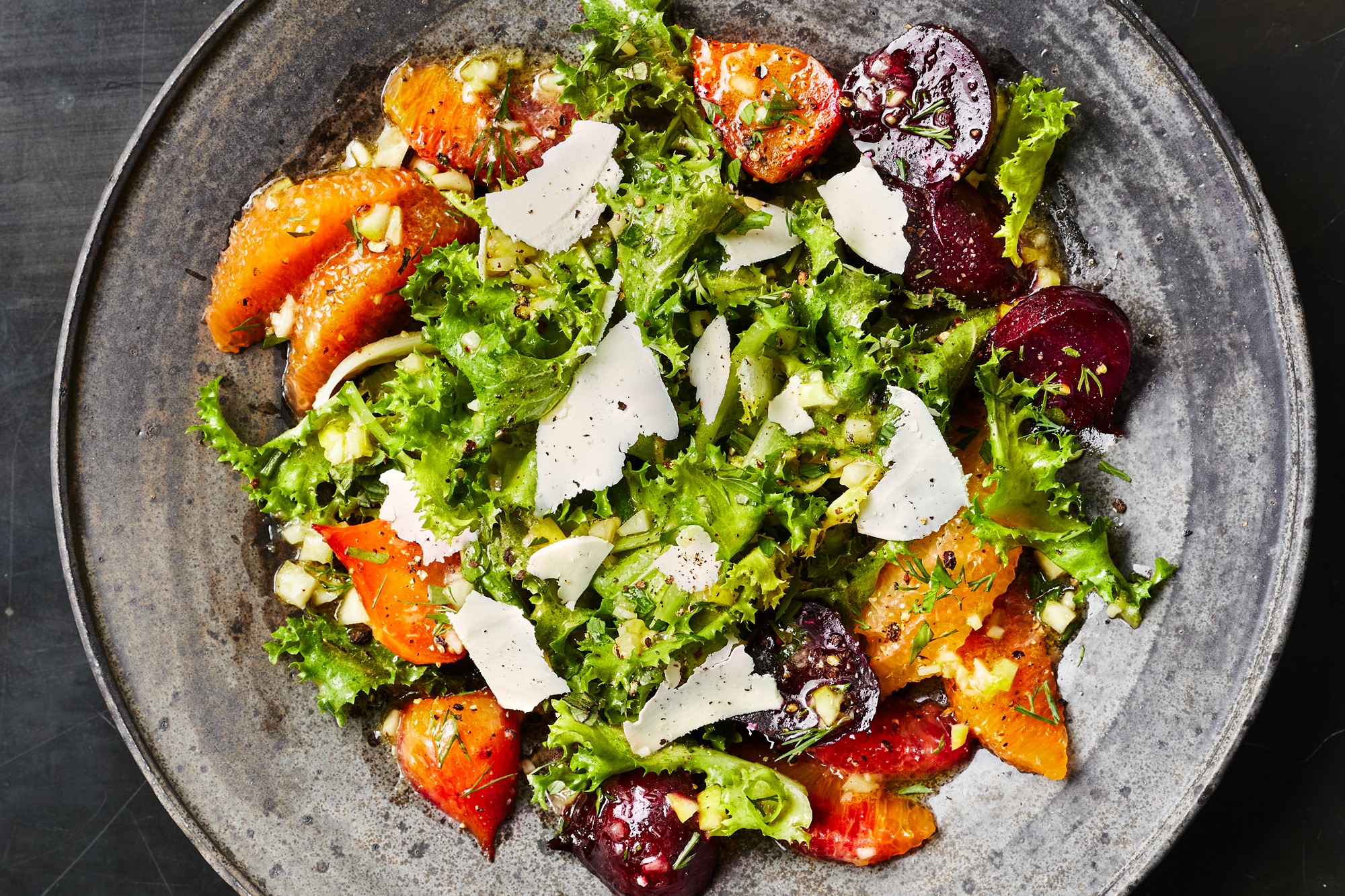 Puntarelle-Citrus Salad with Roasted Beets