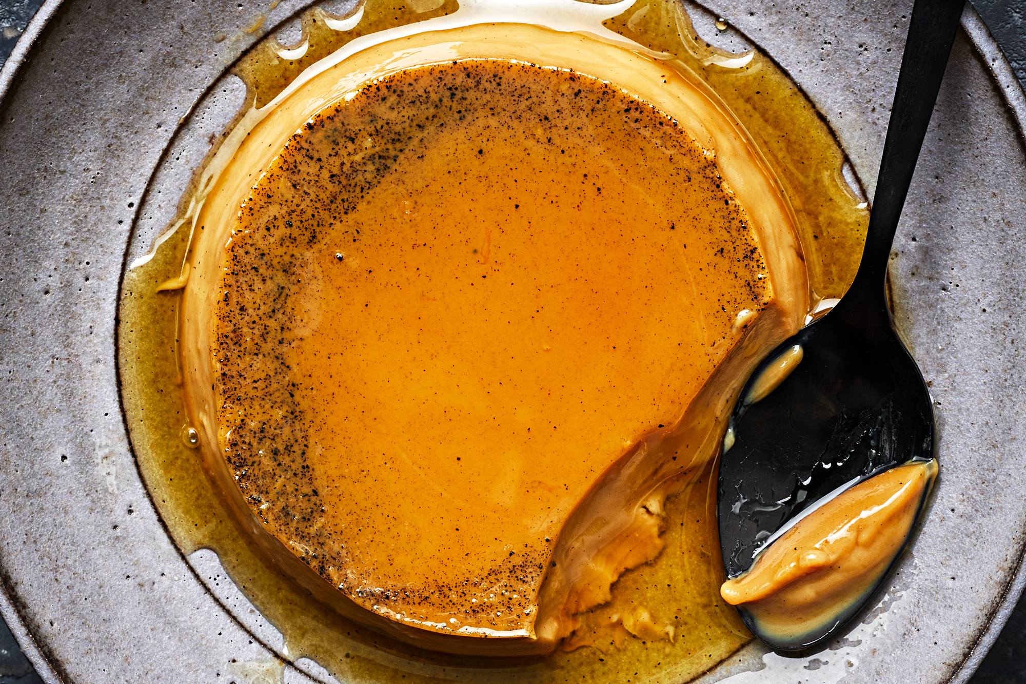 Vietnamese Flan with Chicory Coffee