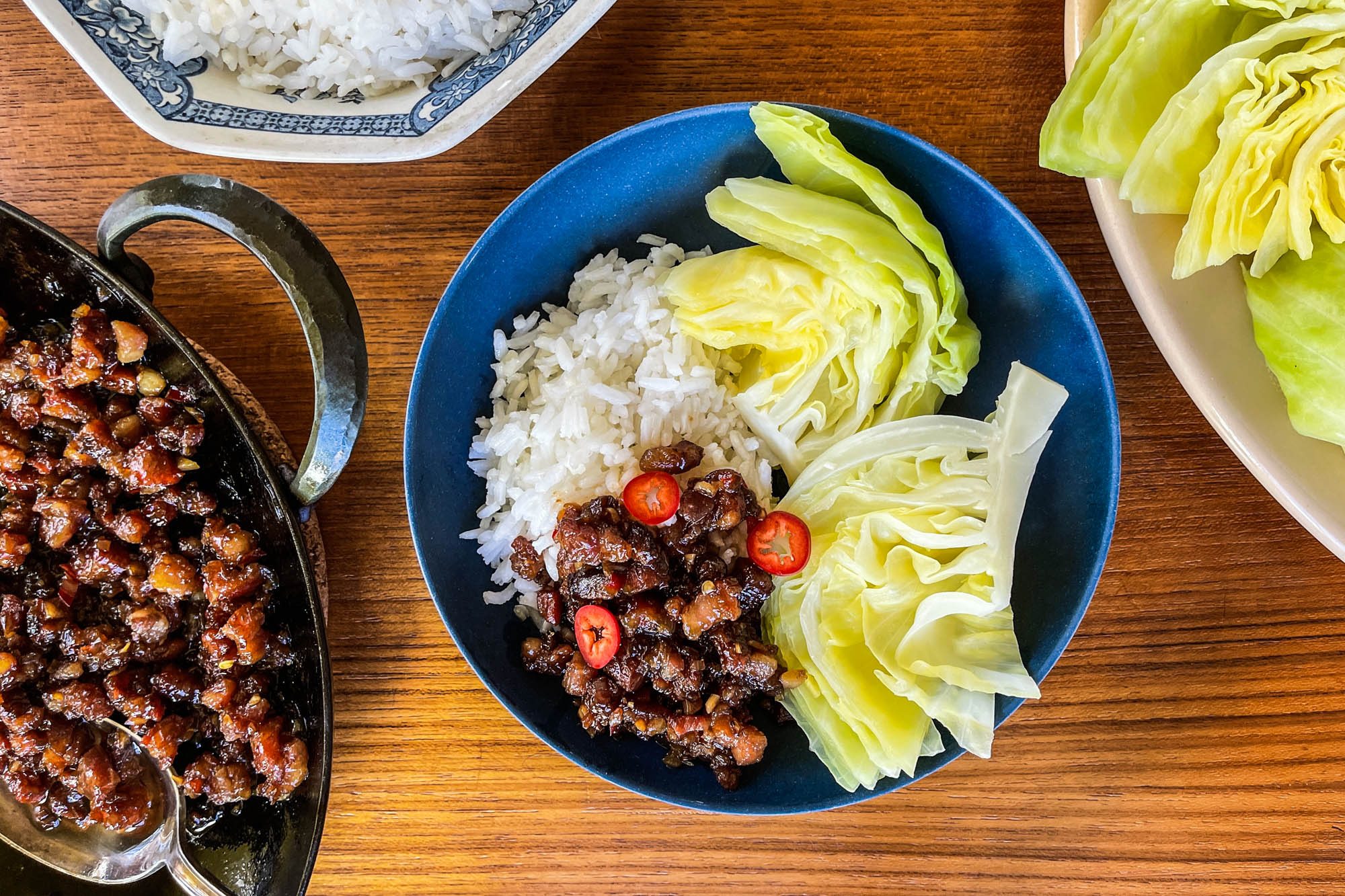 Kho (Braised Vietnamese Minced Pork) with Cabbage
