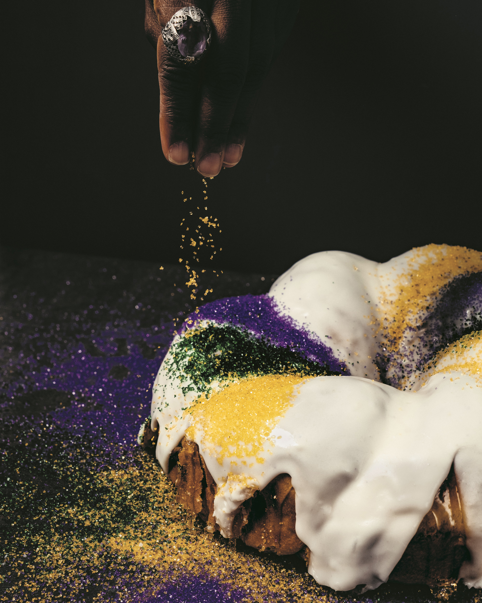 King Cake with Caramel Crunch