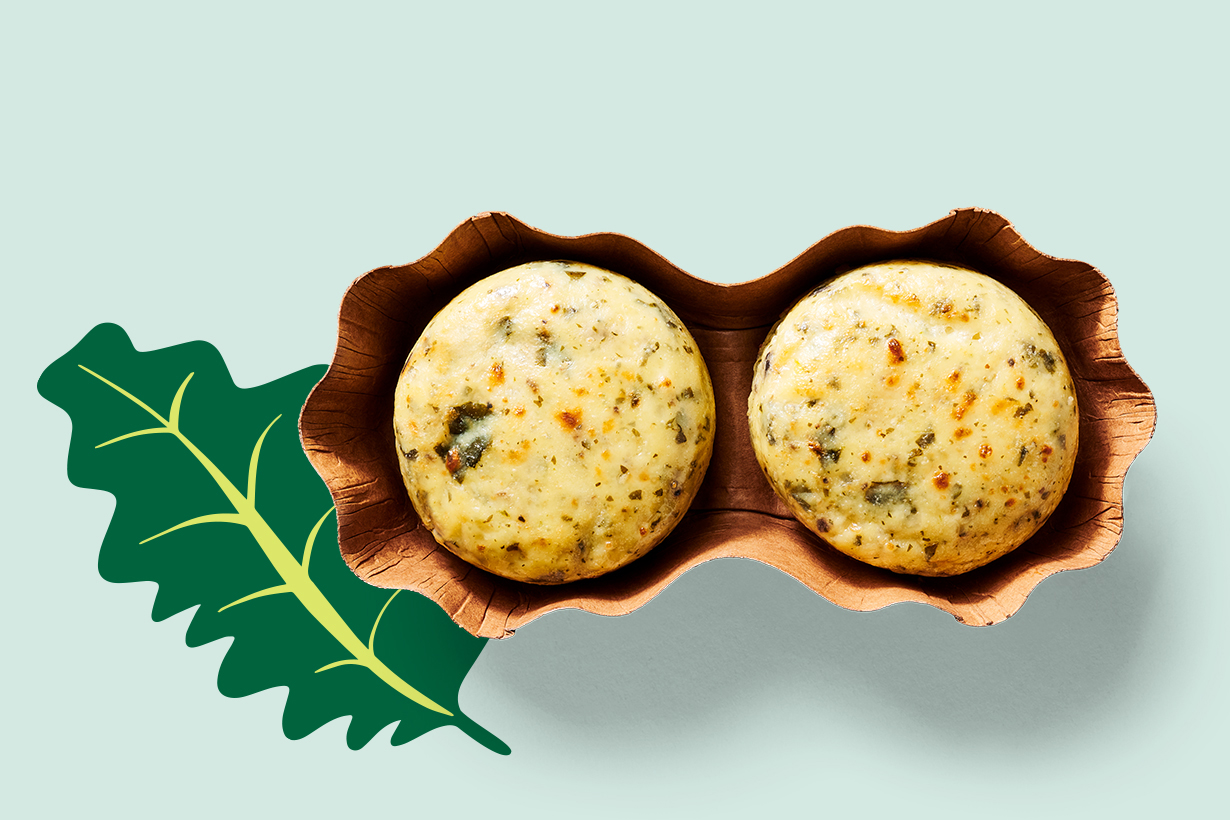 kale and portabella egg bites
