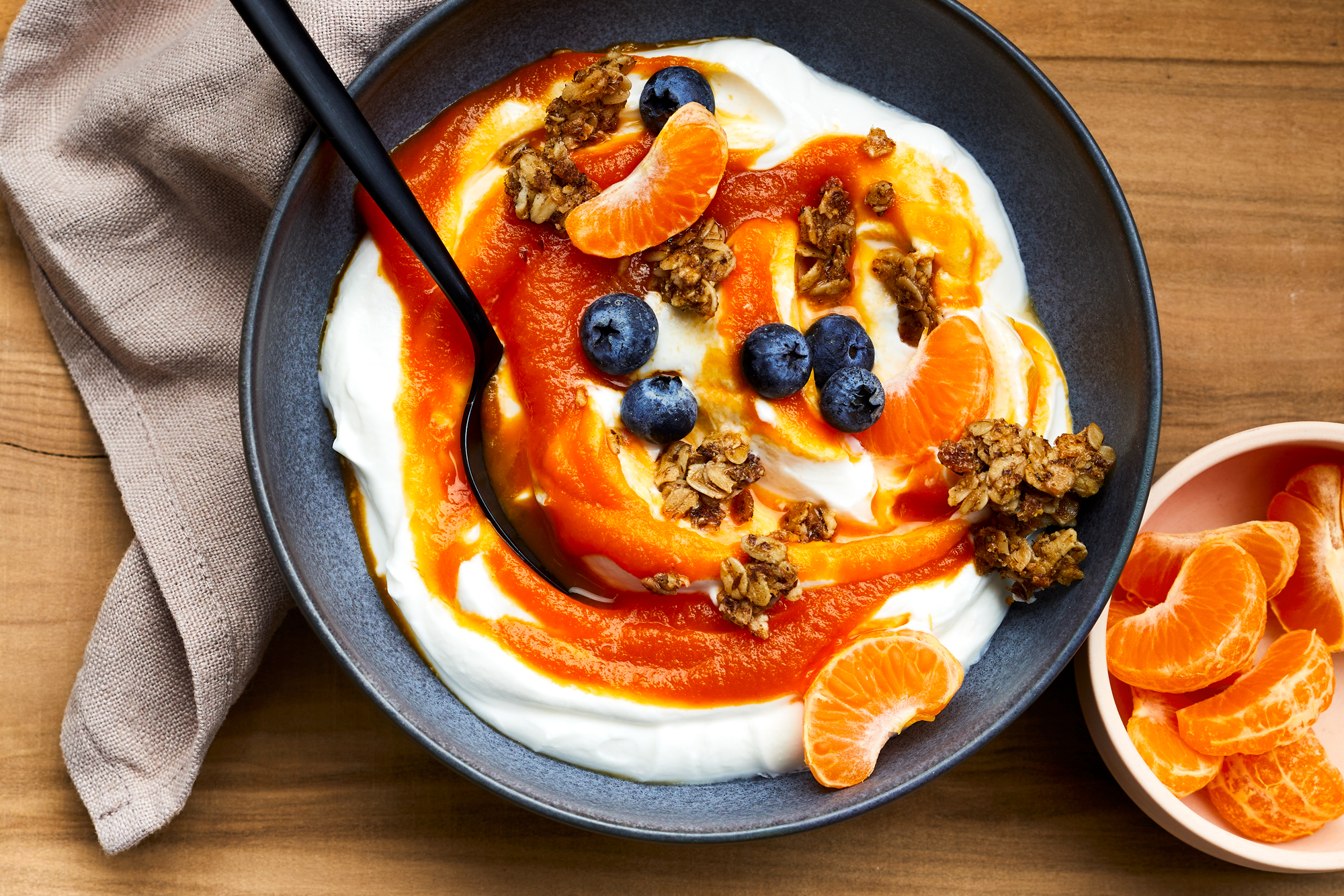 Carrot Cake Marmalade with Yogurt and Fresh Fruit