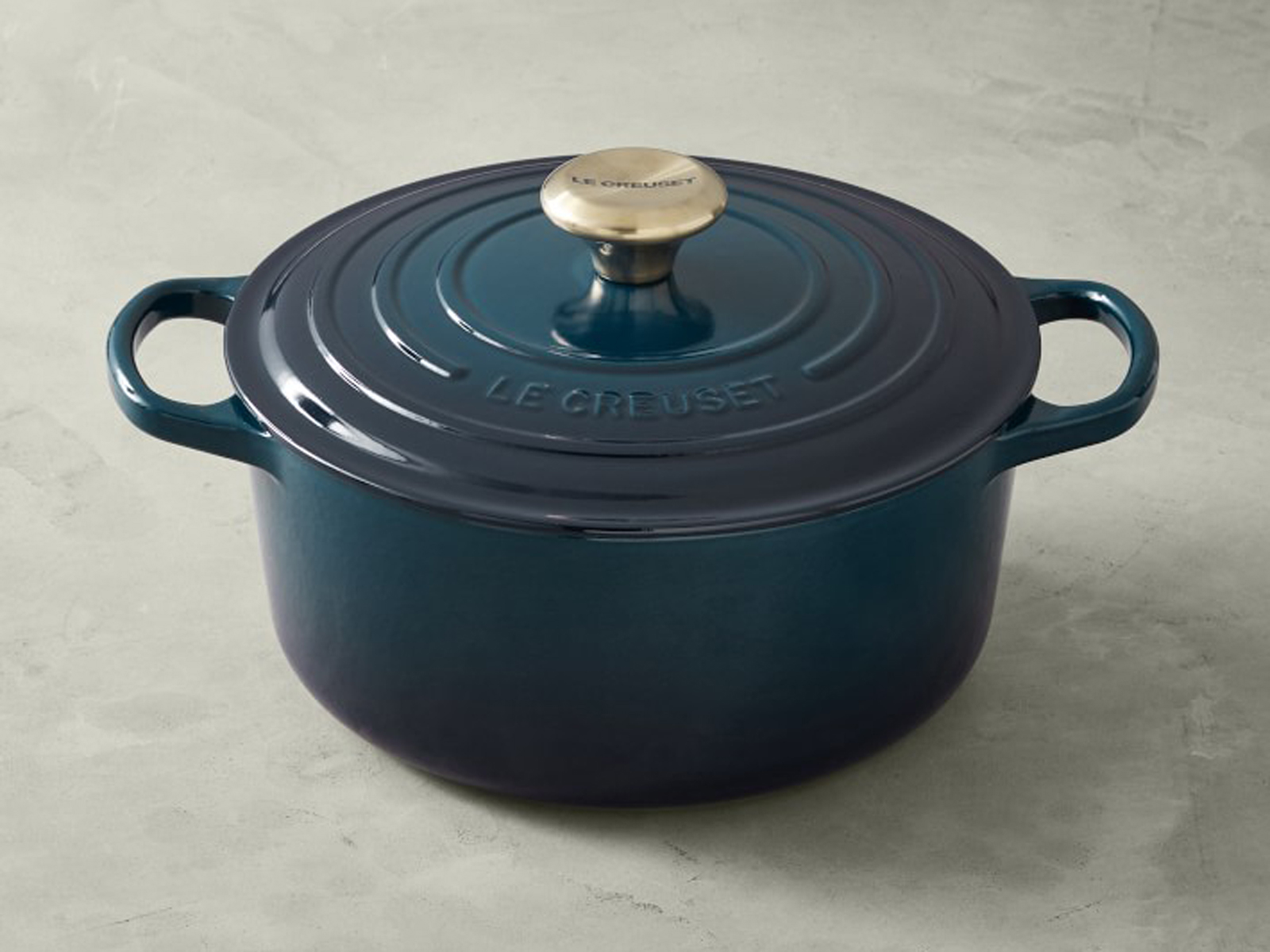 Le Creuset agave dutch oven